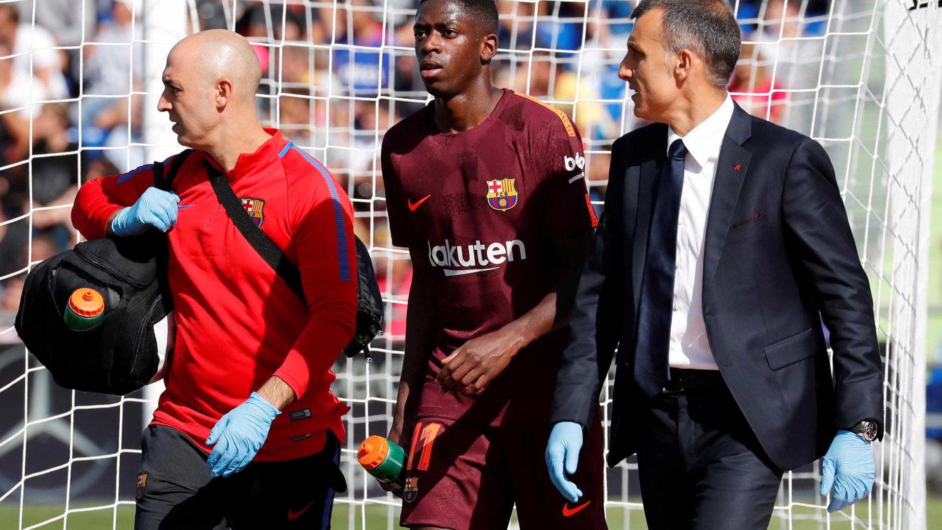 Substituto de Neymar no Barcelona ficará 4 meses parado por lesão
