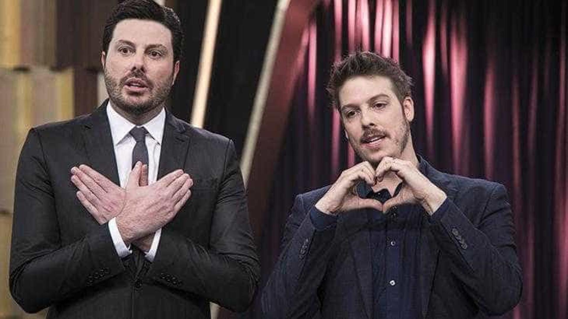 Na Record, Fábio Porchat entrevista Danilo Gentili, do SBT