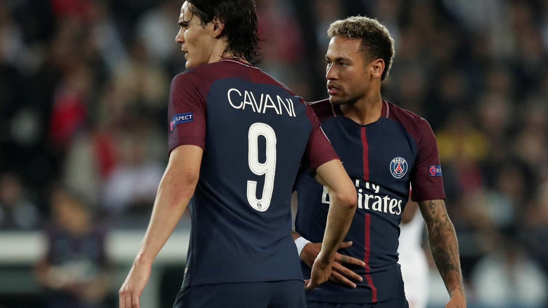 Cavani minimiza briga com Neymar: 'Tudo tem solução'