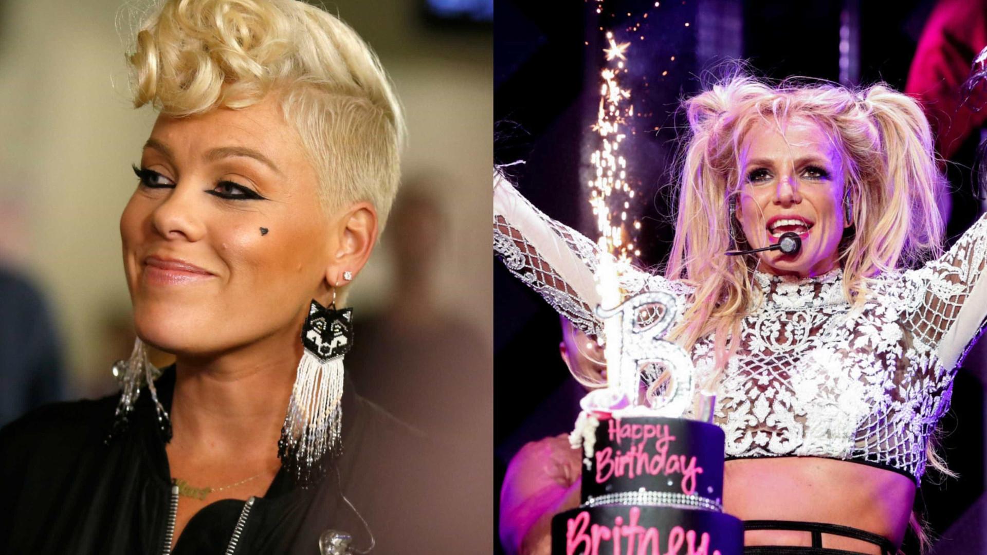 Pink diz que já sentiu inveja do sucesso de Britney Spears