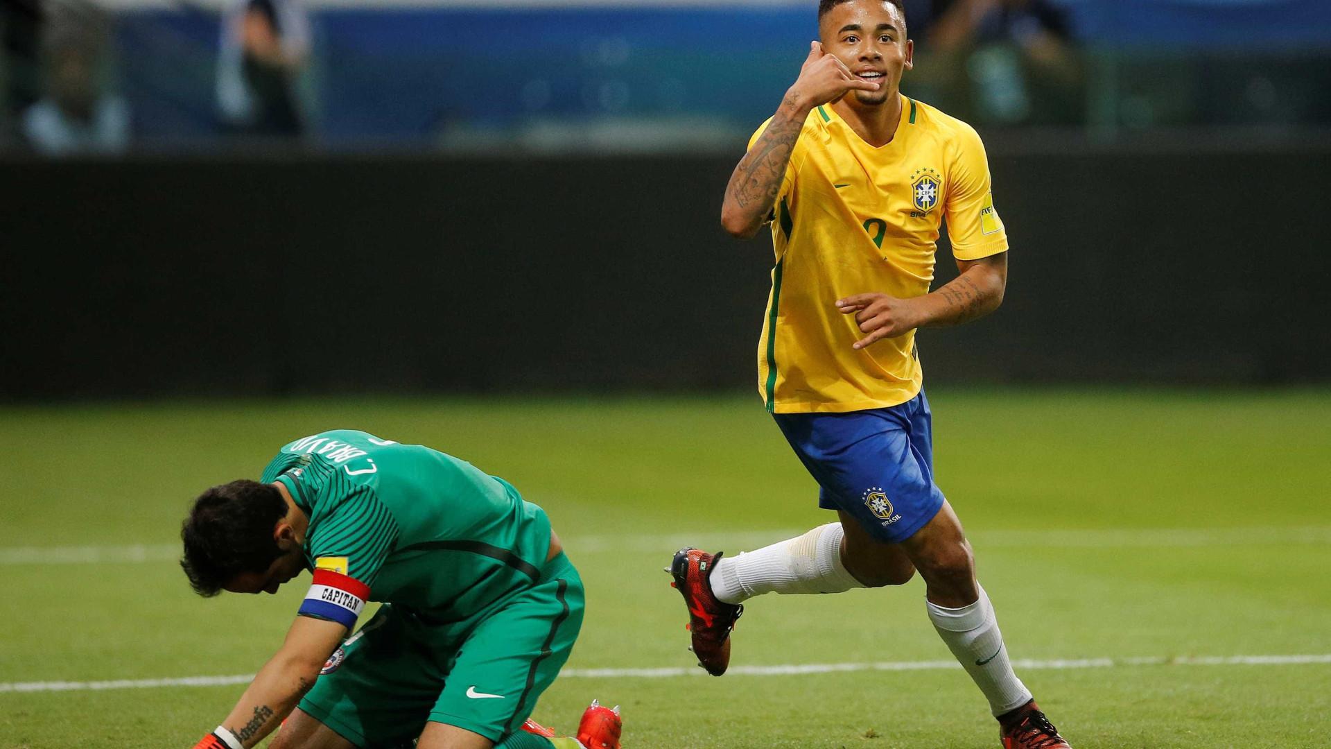 Brasil termina eliminatórias com vitória sobre o Chile