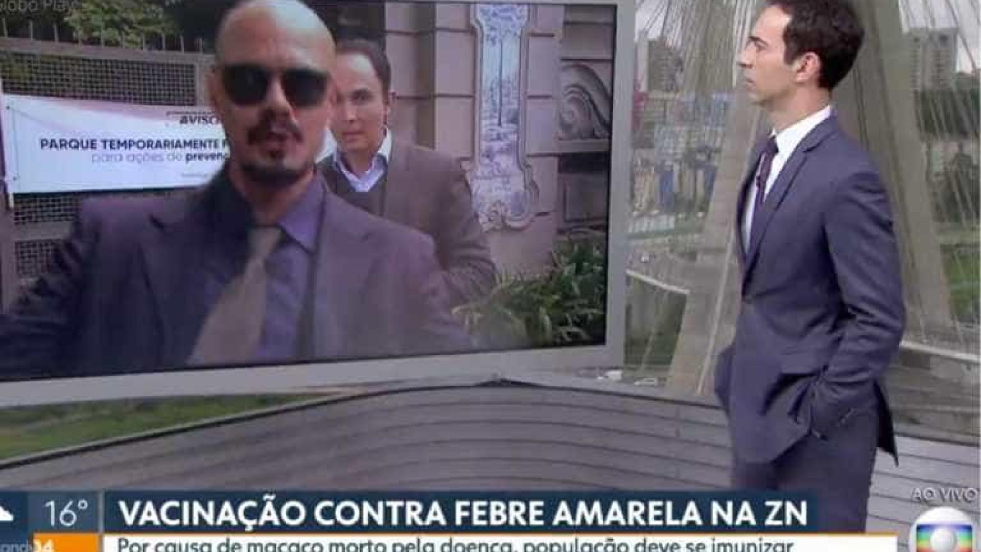 César Tralli se irrita ao vivo após homem invadir link da Globo