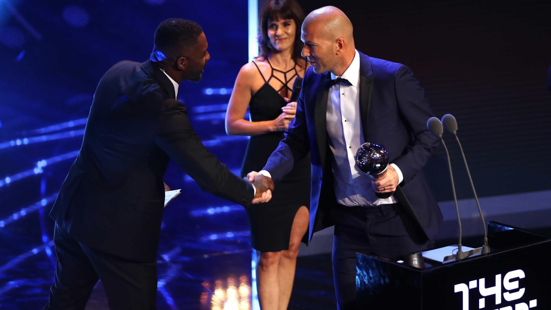 Zidane é eleito pela FIFA o melhor treinador do mundo em 2017