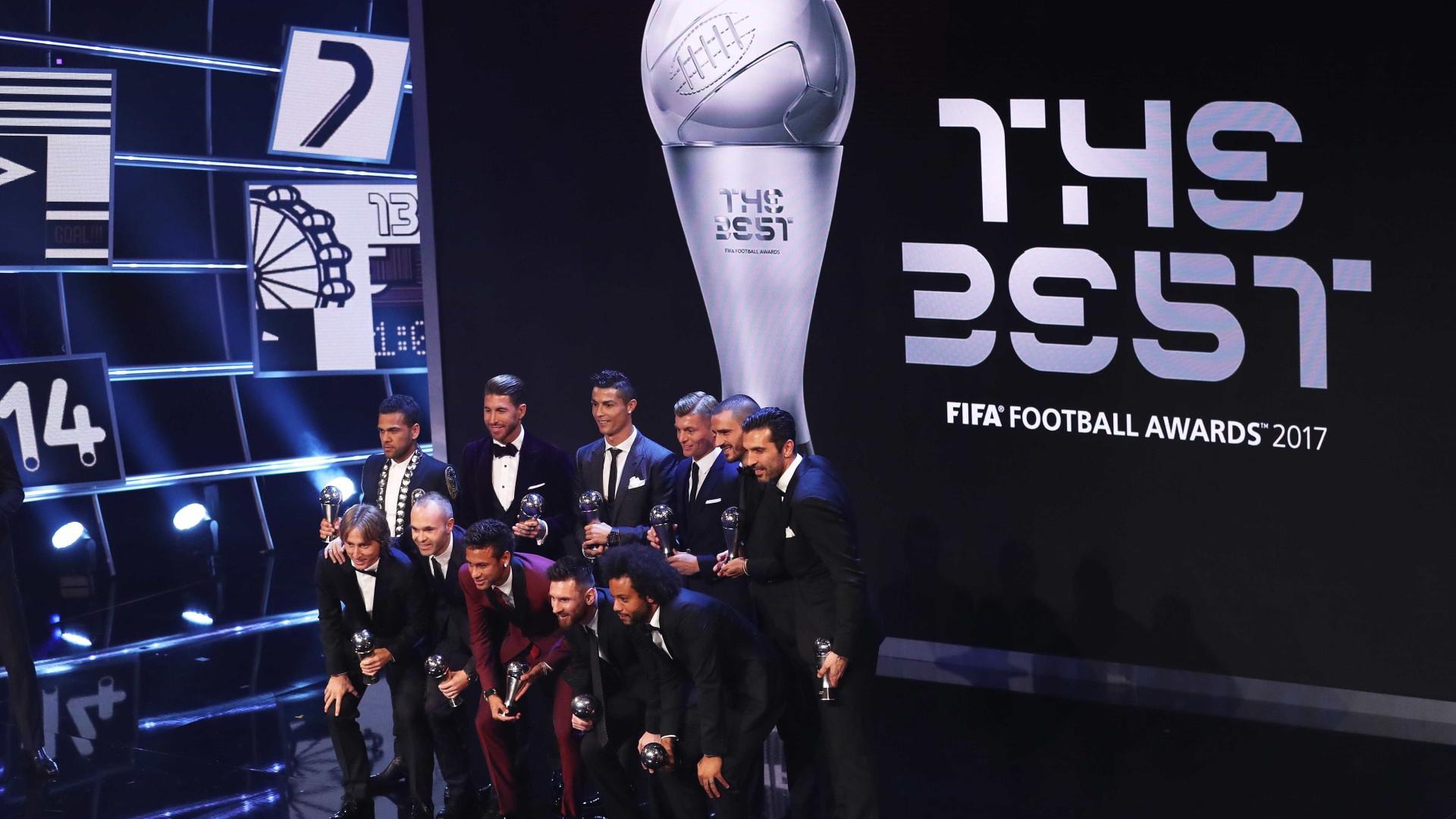 FIFA Awards: seleção da temporada tem Neymar, Marcelo e Dani Alves