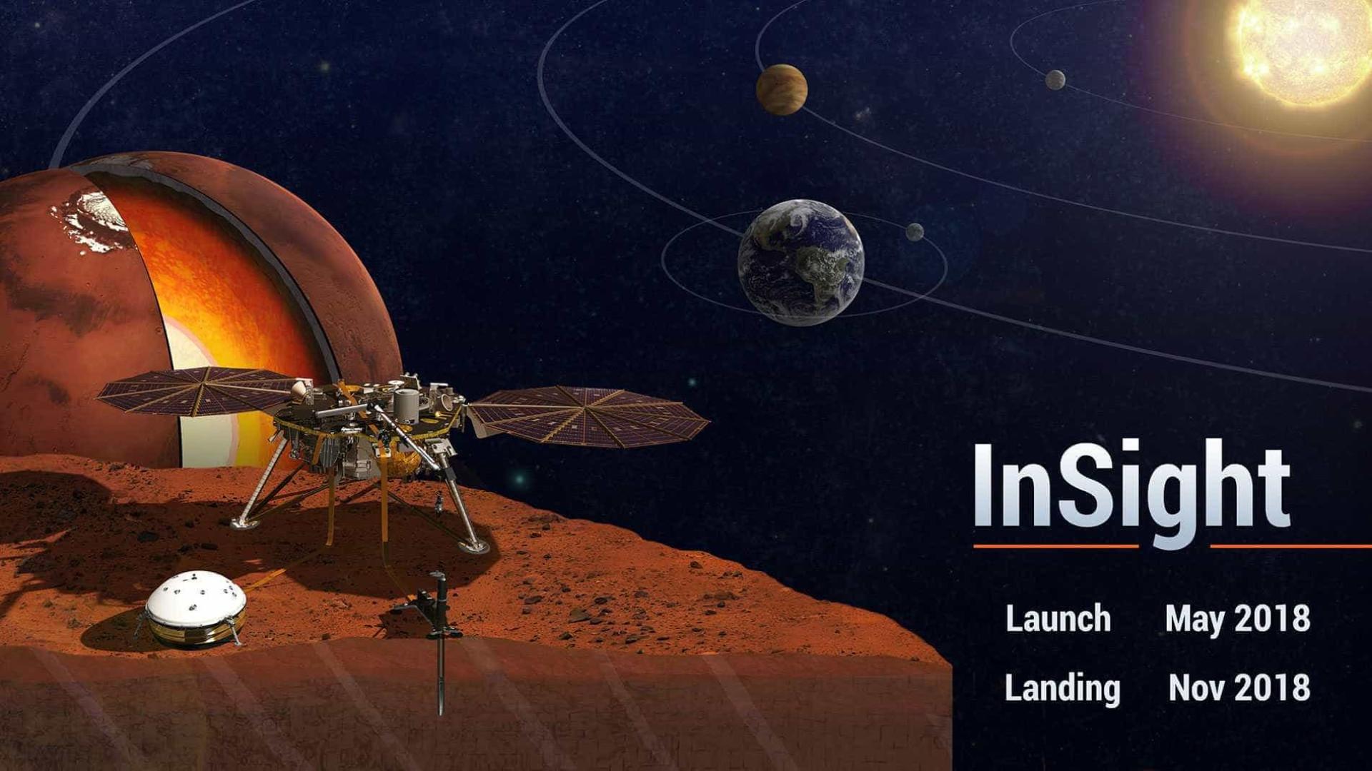 Resultado de imagem para foto da sonda InSight da Nasa