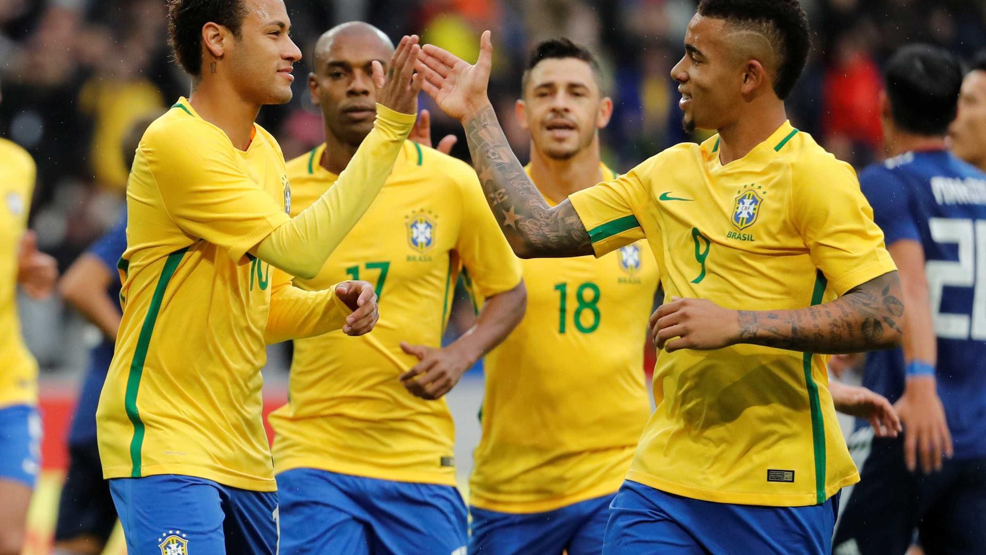 Brasil marca três gols no 1º tempo e vence Japão na França