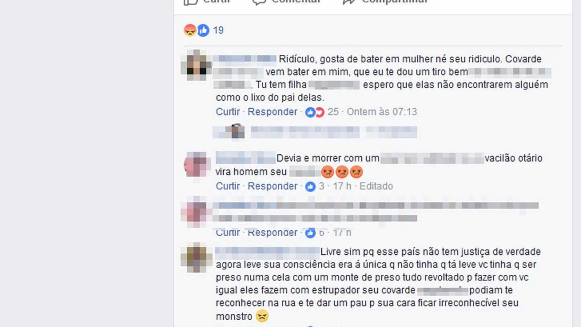 Suspeito comemora liberdade após agredir ex: 'Livre, leve e solto'