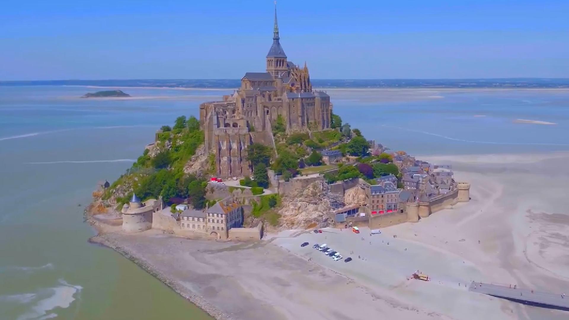 Drone captura imagens deslumbrantes do Mont Saint-Michel
