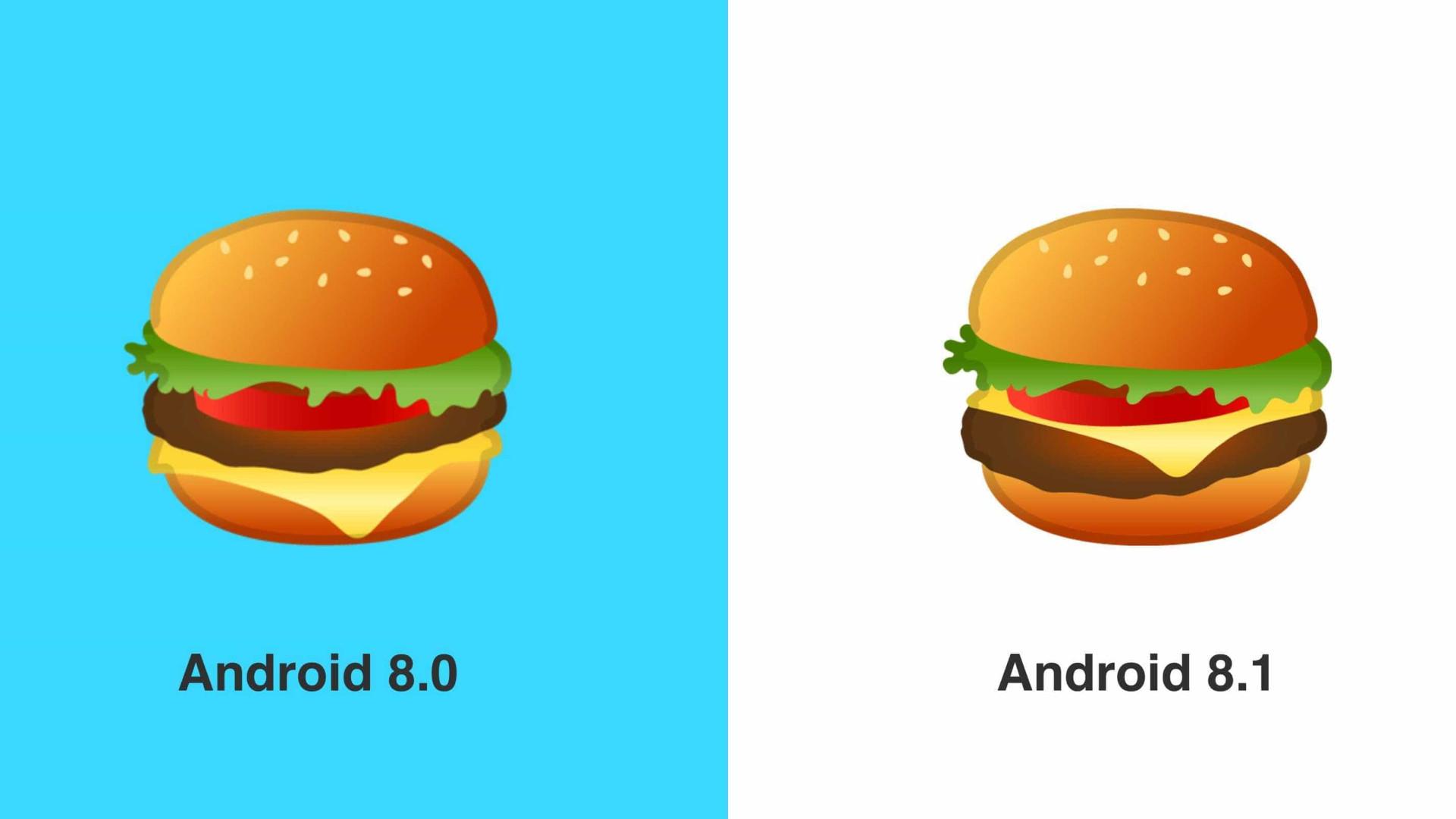 Emoji 'polêmico' de hambúrguer é corrigido em atualização do Android
