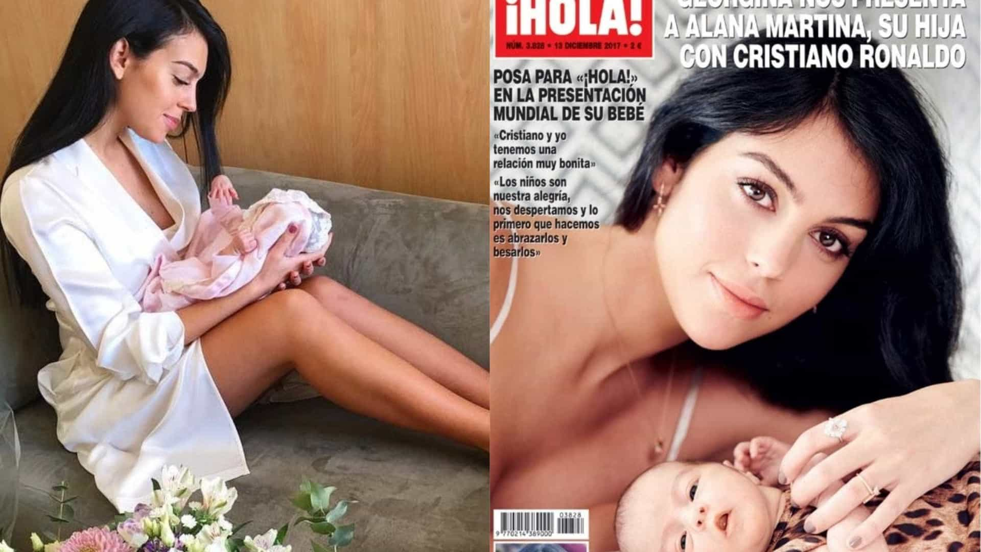 Georgina mostra Alana Martina na capa de revista espanhola