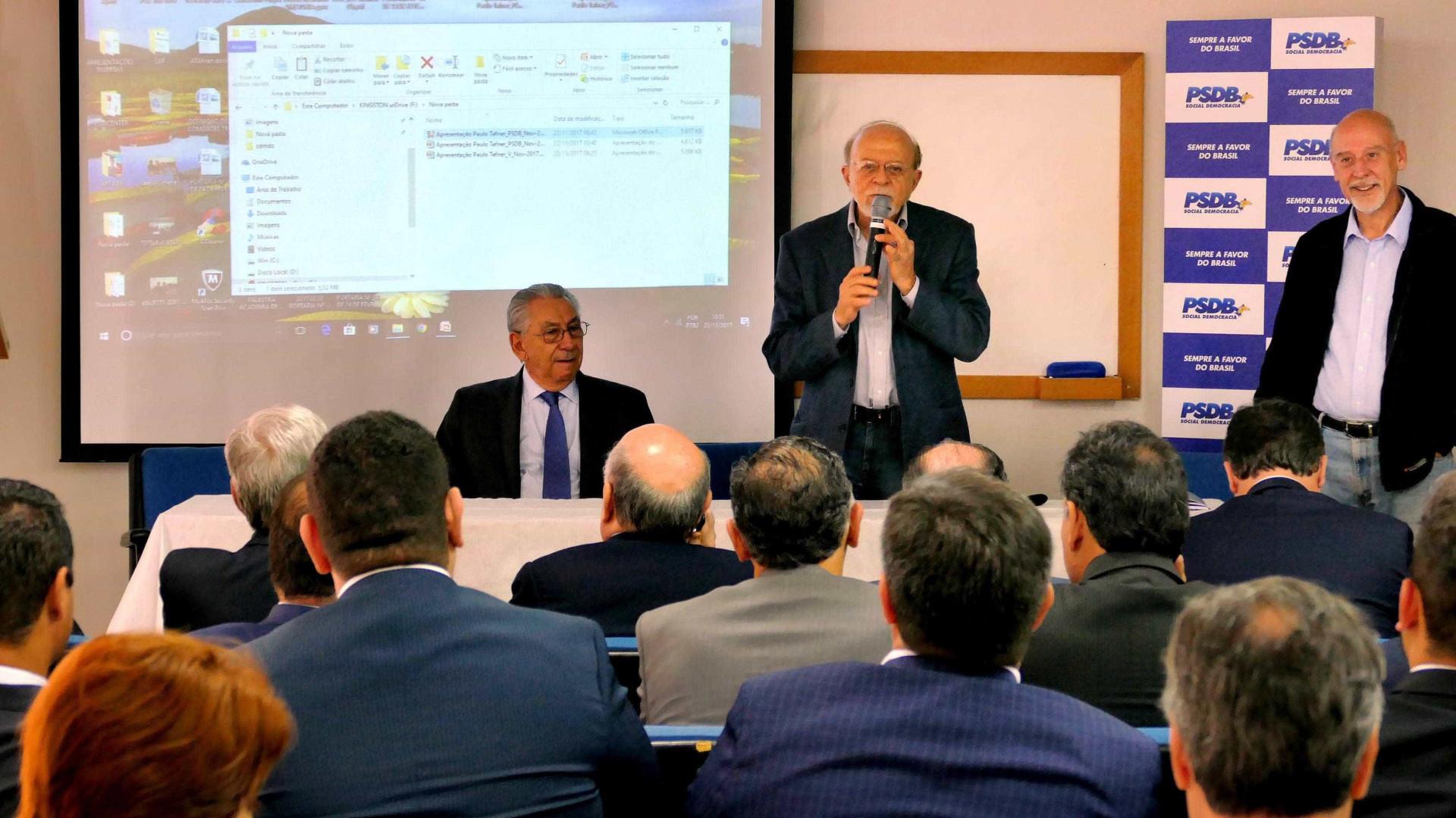 Alckimin vem a Brasília, mas não convence PSDB a fechar questão — Previdência
