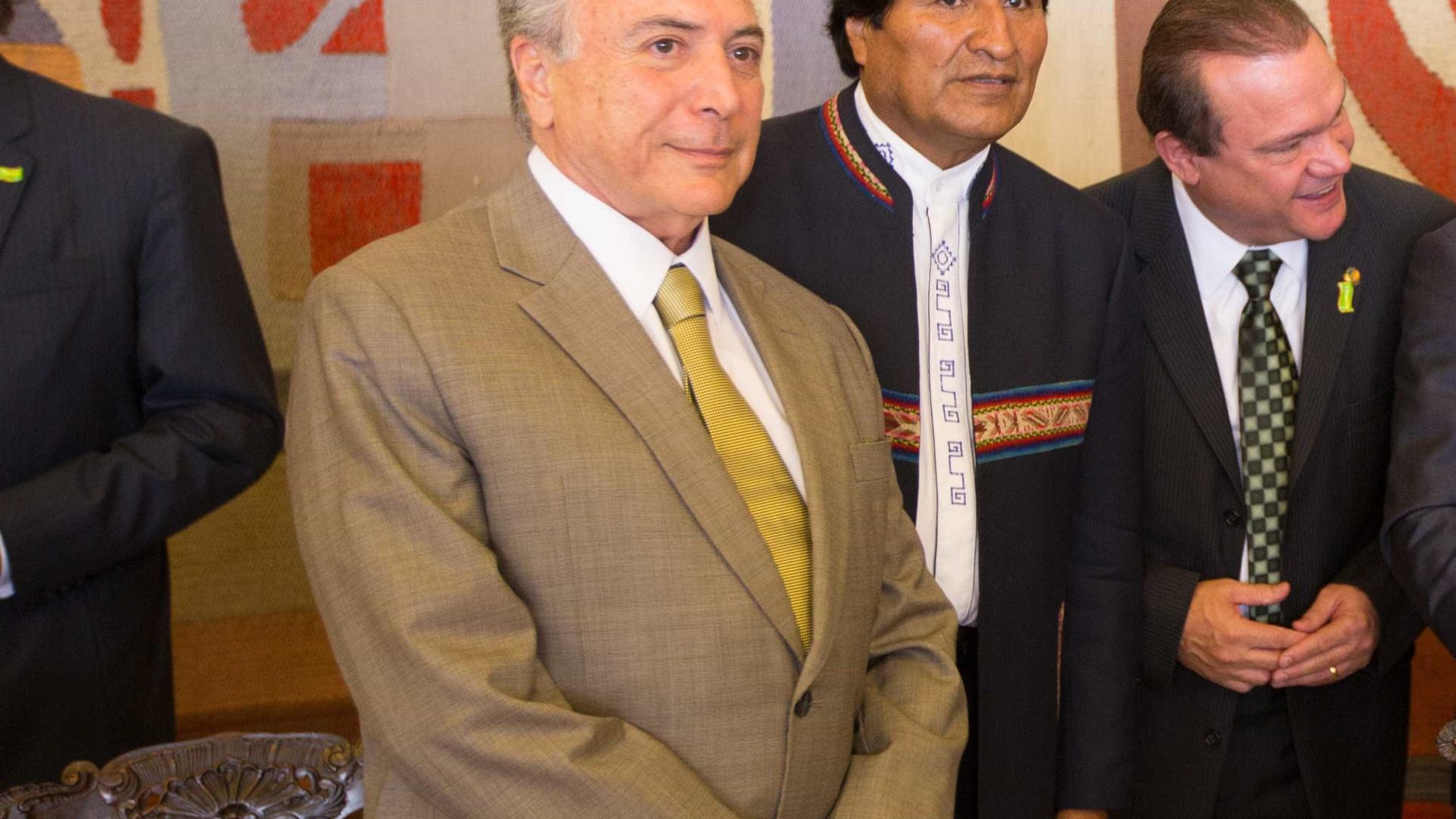 Temer recebe Evo Morales, aliado de Lula e Dilma