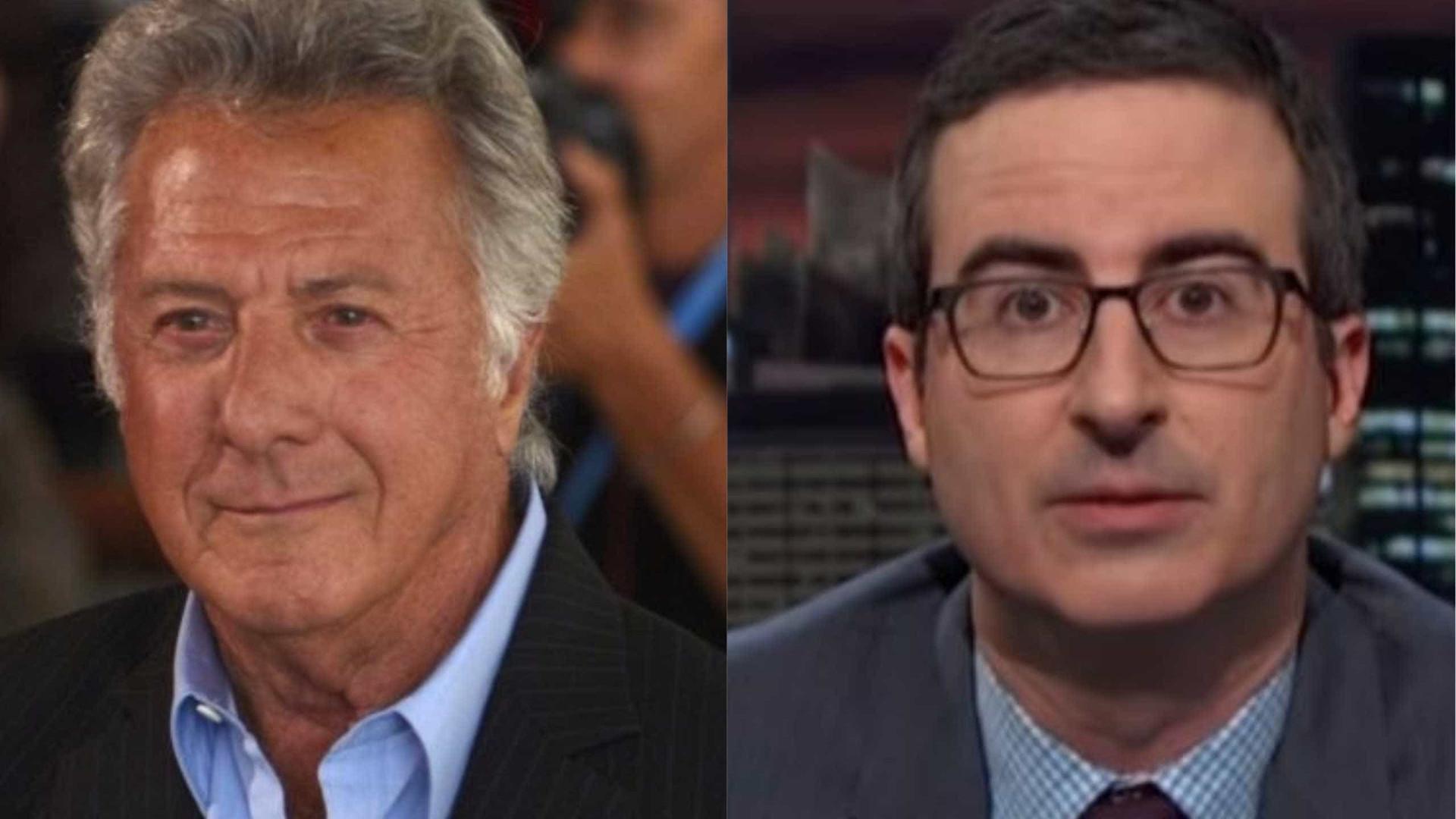 Dustin Hoffman discute com John Oliver devido a acusações de assédio