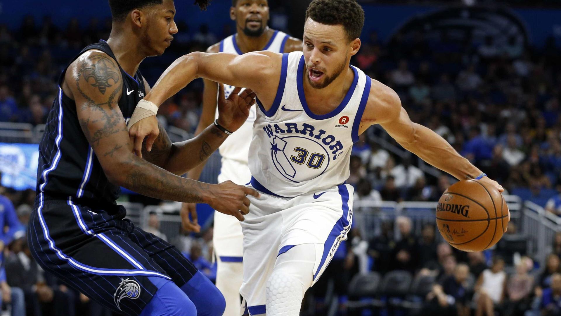 Torção no tornozelo de Curry tira astro das quadras por duas semanas