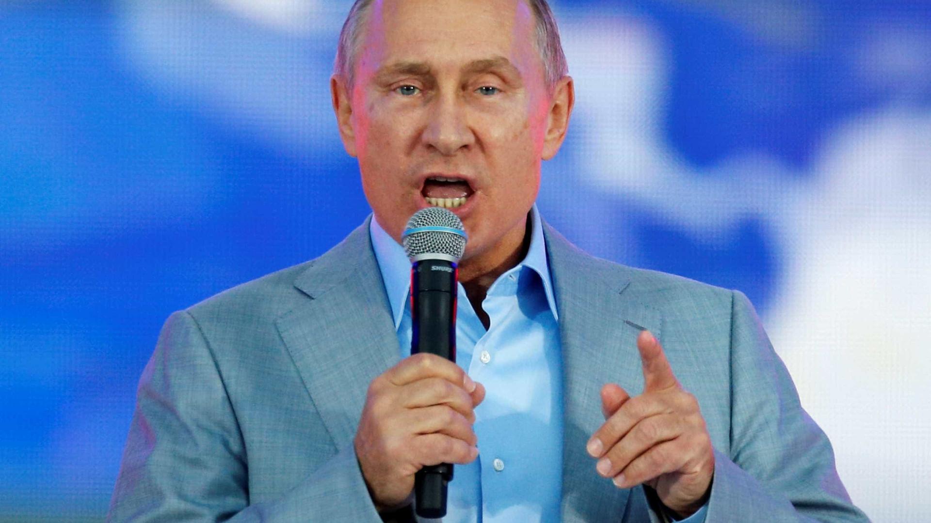 Putin oficializa candidatura às eleições russas de 2018