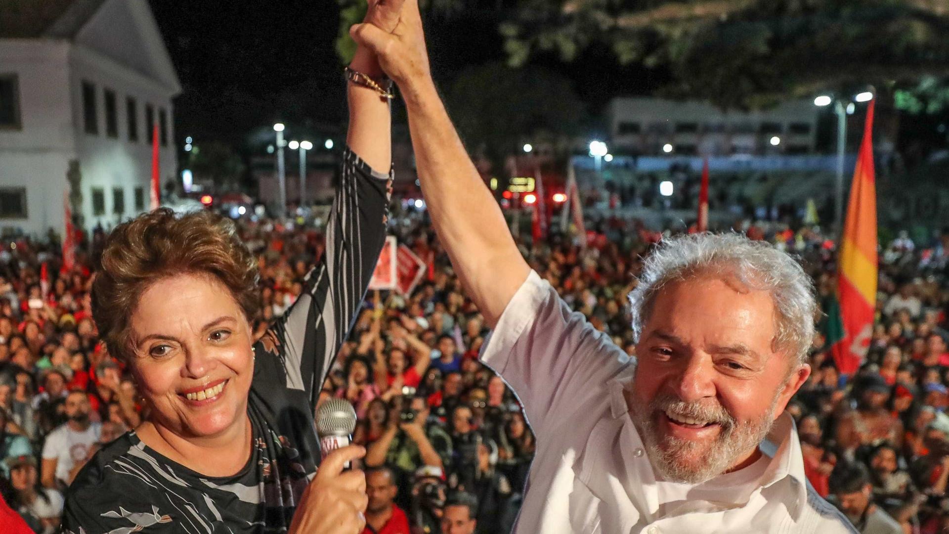 Dilma: 'Para mim, inventaram pedaladas; para Lula, processo sem crime'