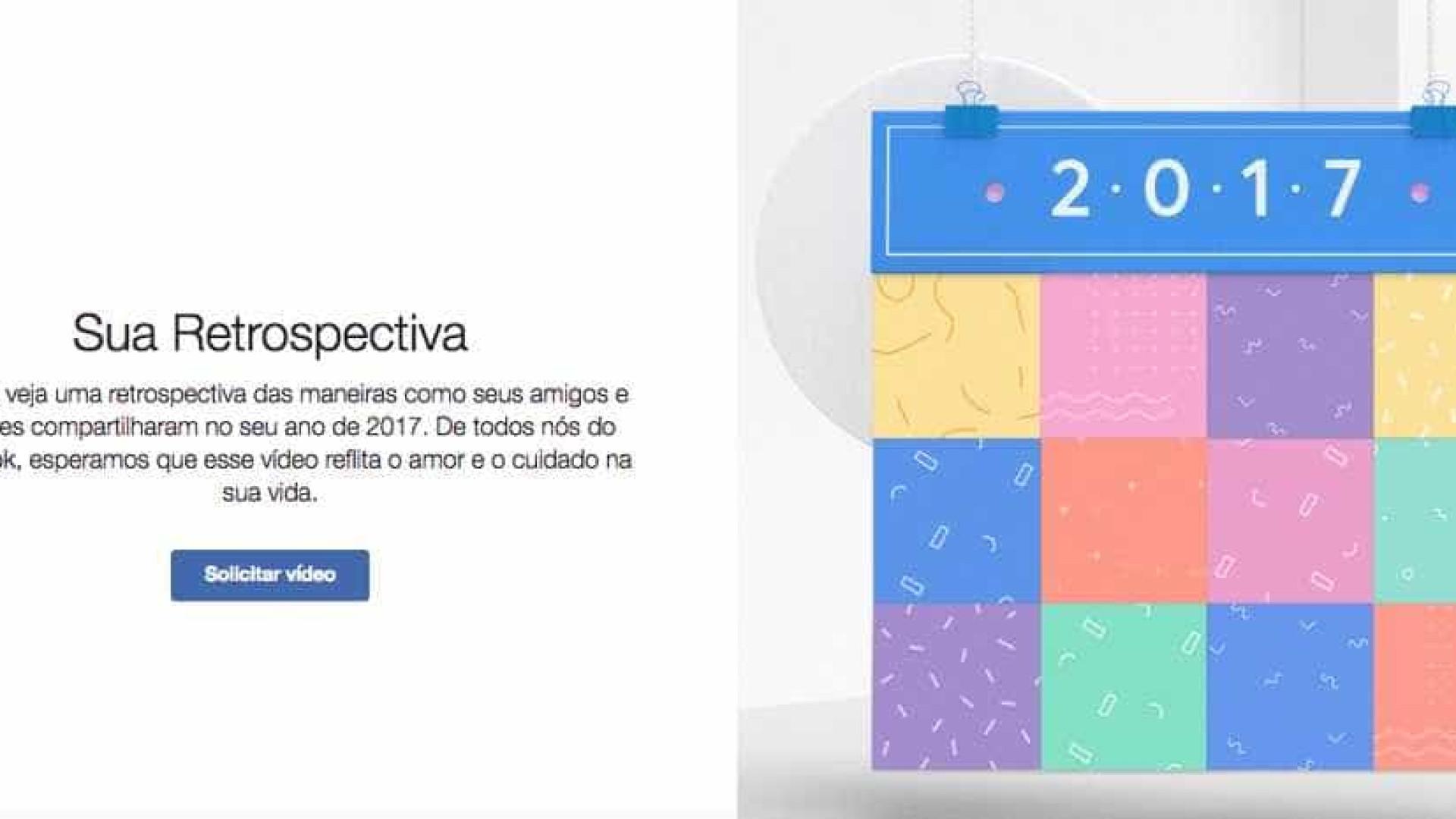 Saiba como fazer sua retrospectiva 2017 no Facebook