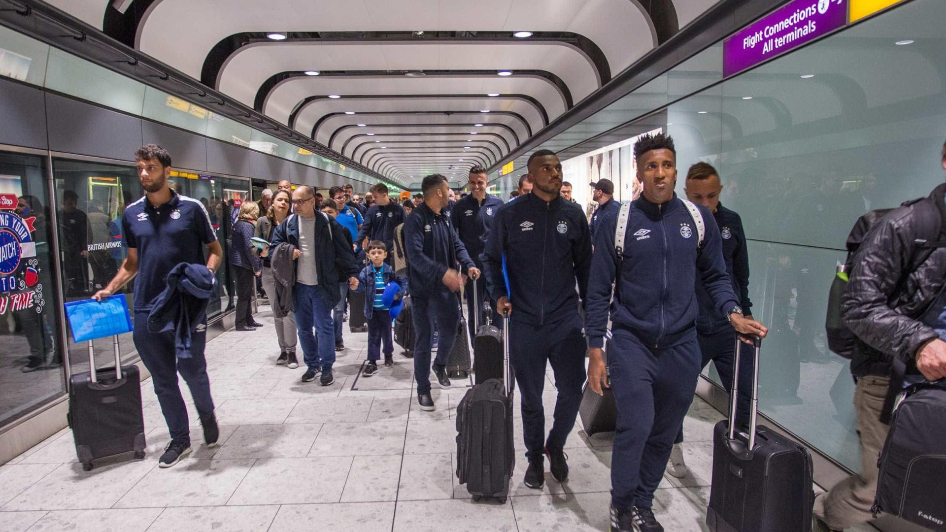Grêmio chega aos Emirados Árabes para disputar Mundial de Clubes