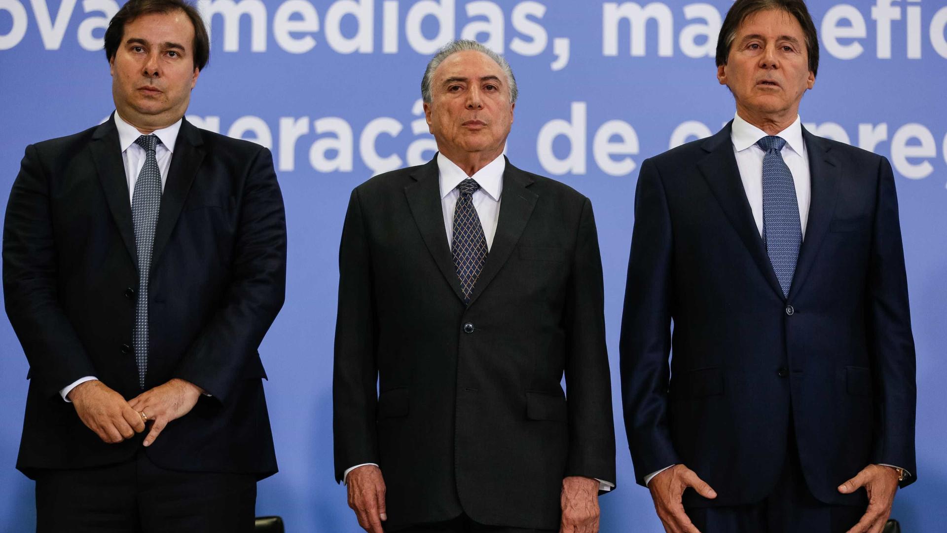Temer ainda discutirá data de reforma com Eunício e Maia, diz Planalto