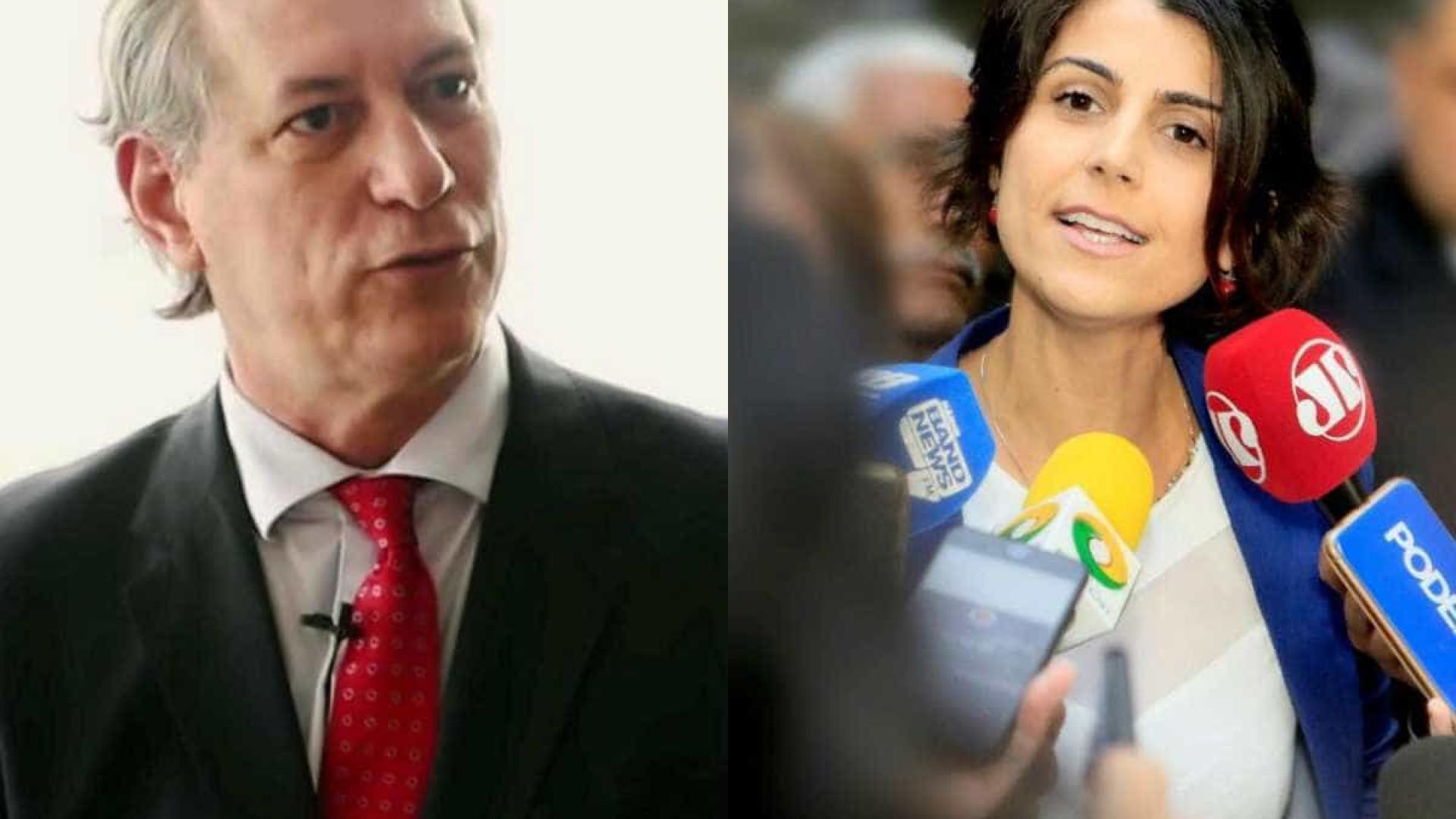Manuela D'Ávila rebate Ciro sobre rapidez no julgamento de Lula