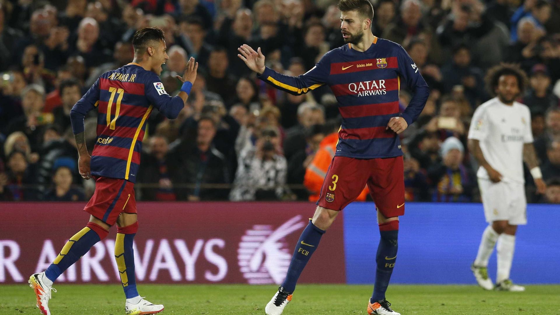 'Saída de Neymar foi um dano para o Barça', diz Piquè