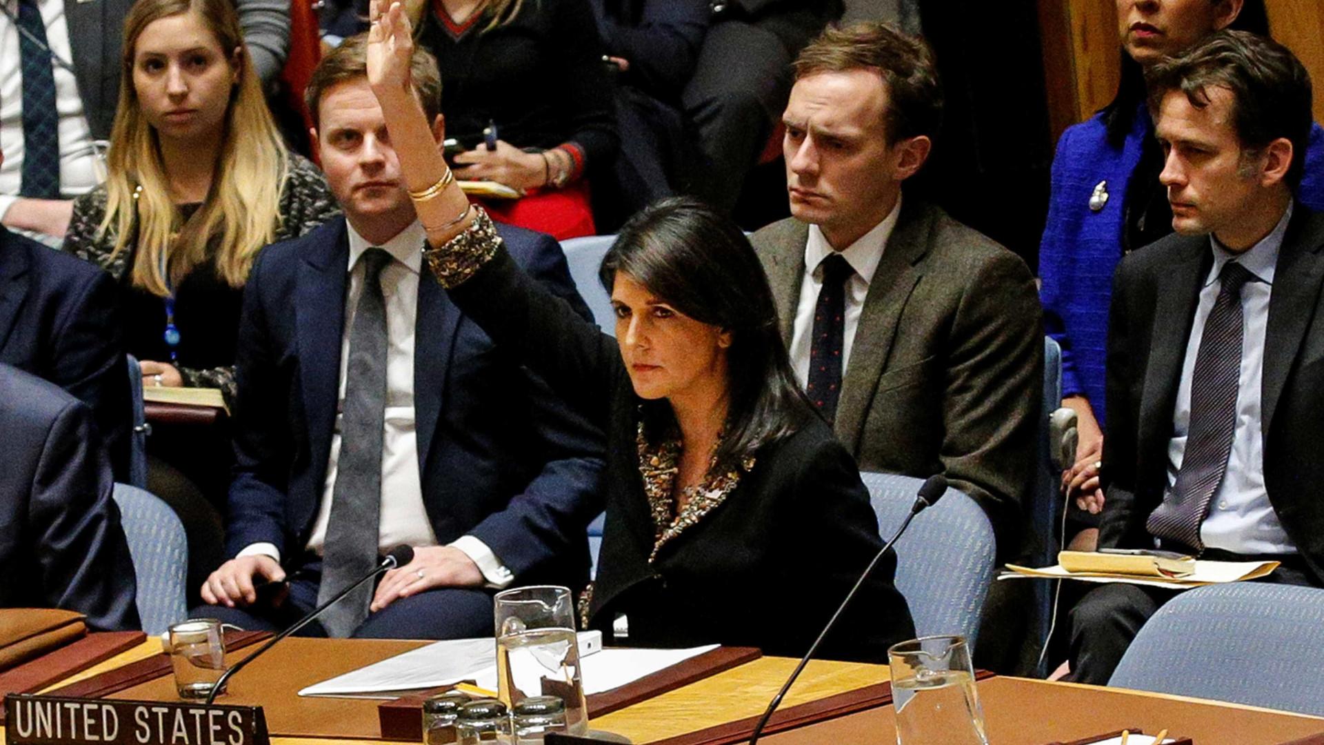 Governo Trump veta resolução na ONU sobre Jerusalém