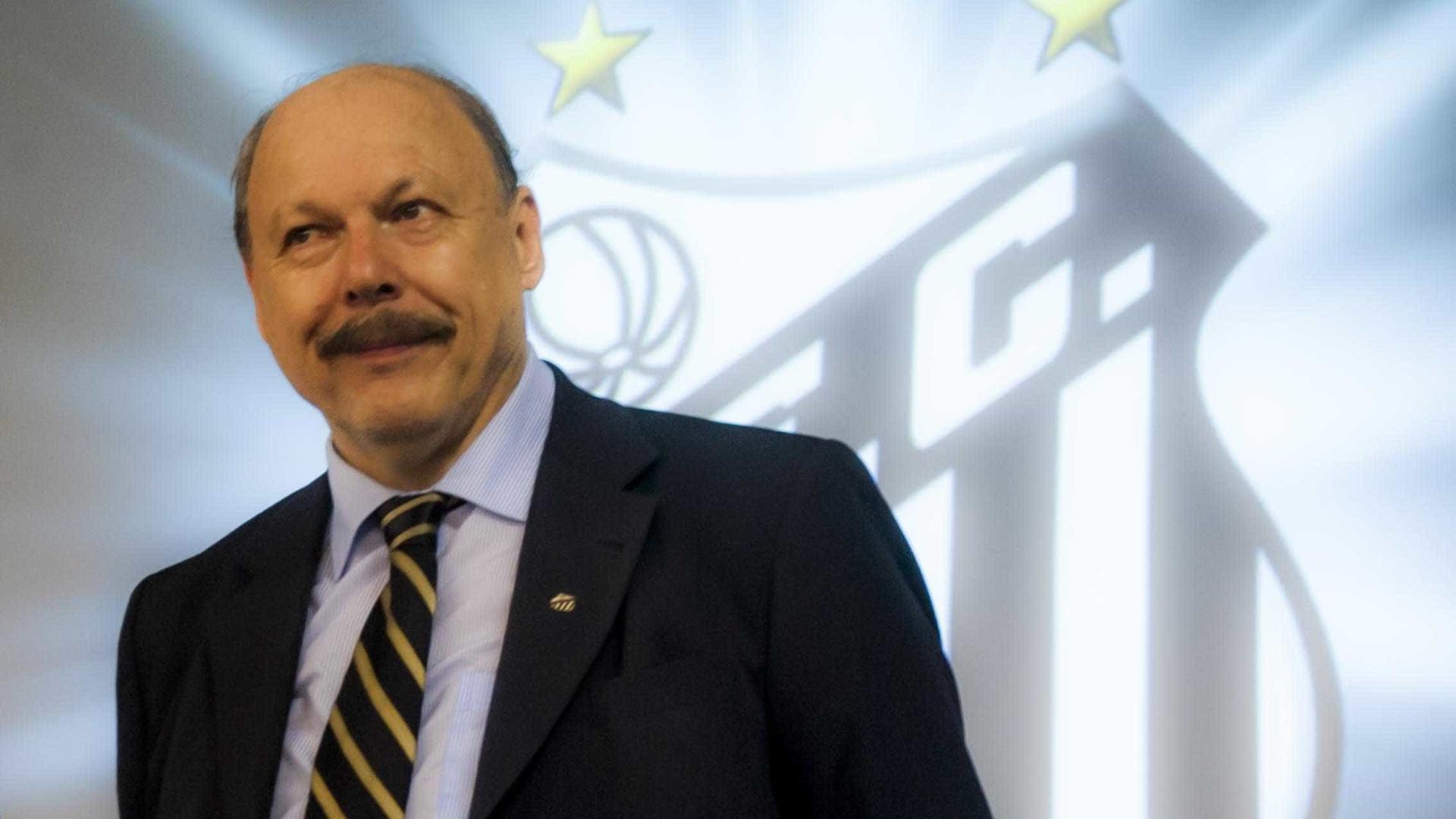 Presidente do Santos ganha liminar que paralisa processo de impeachment