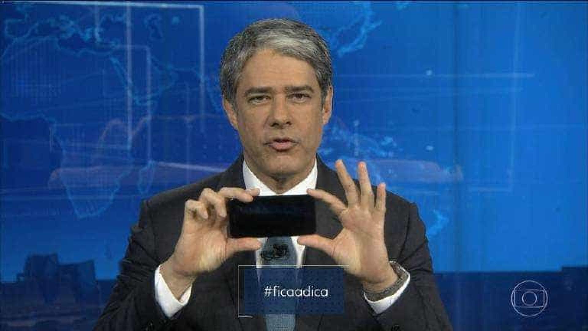 Bonner dá bronca em telespectadora no Jornal Nacional