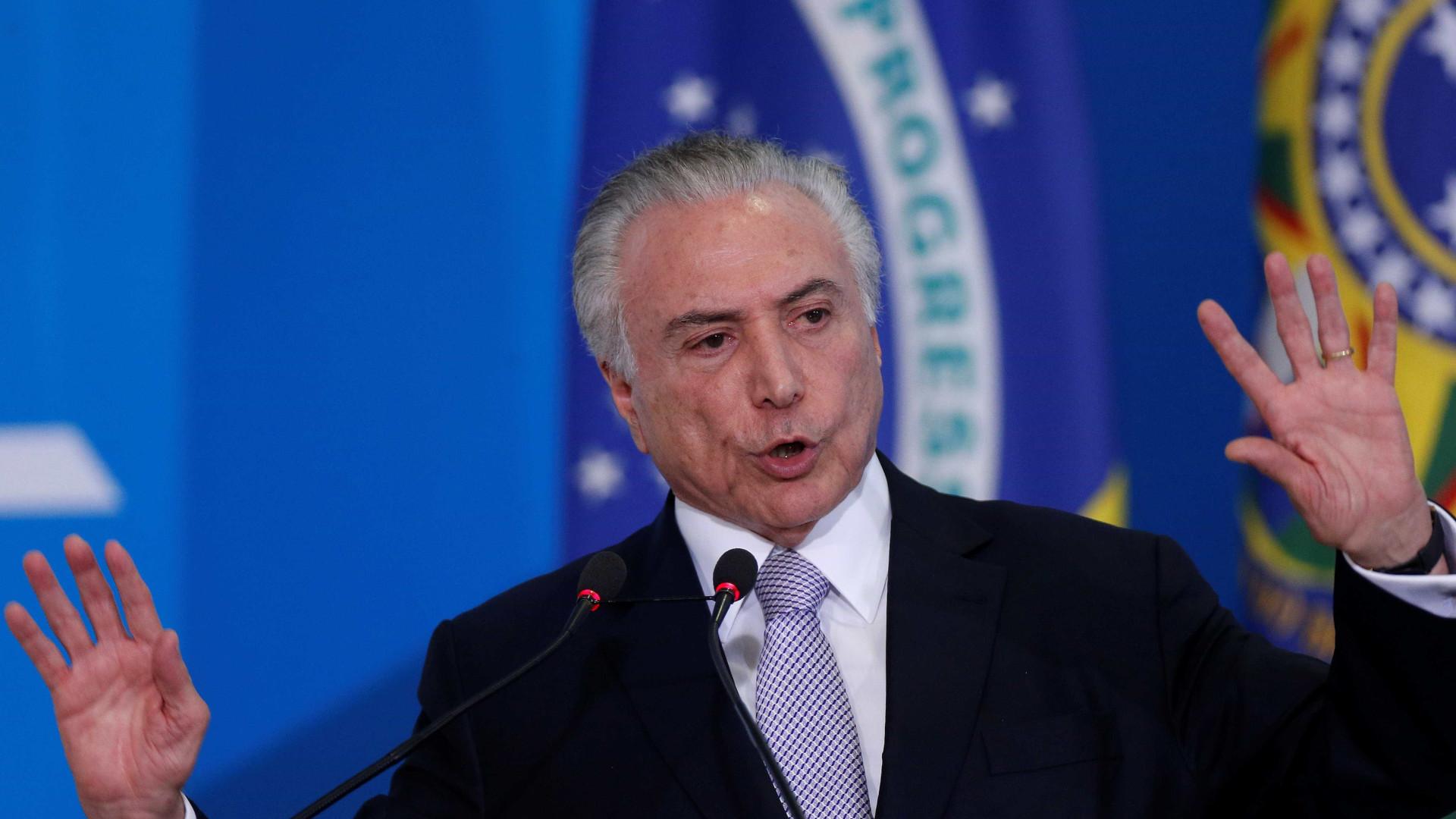 Temer dirá em Davos que 'Brasil voltou e recessão foi superada'