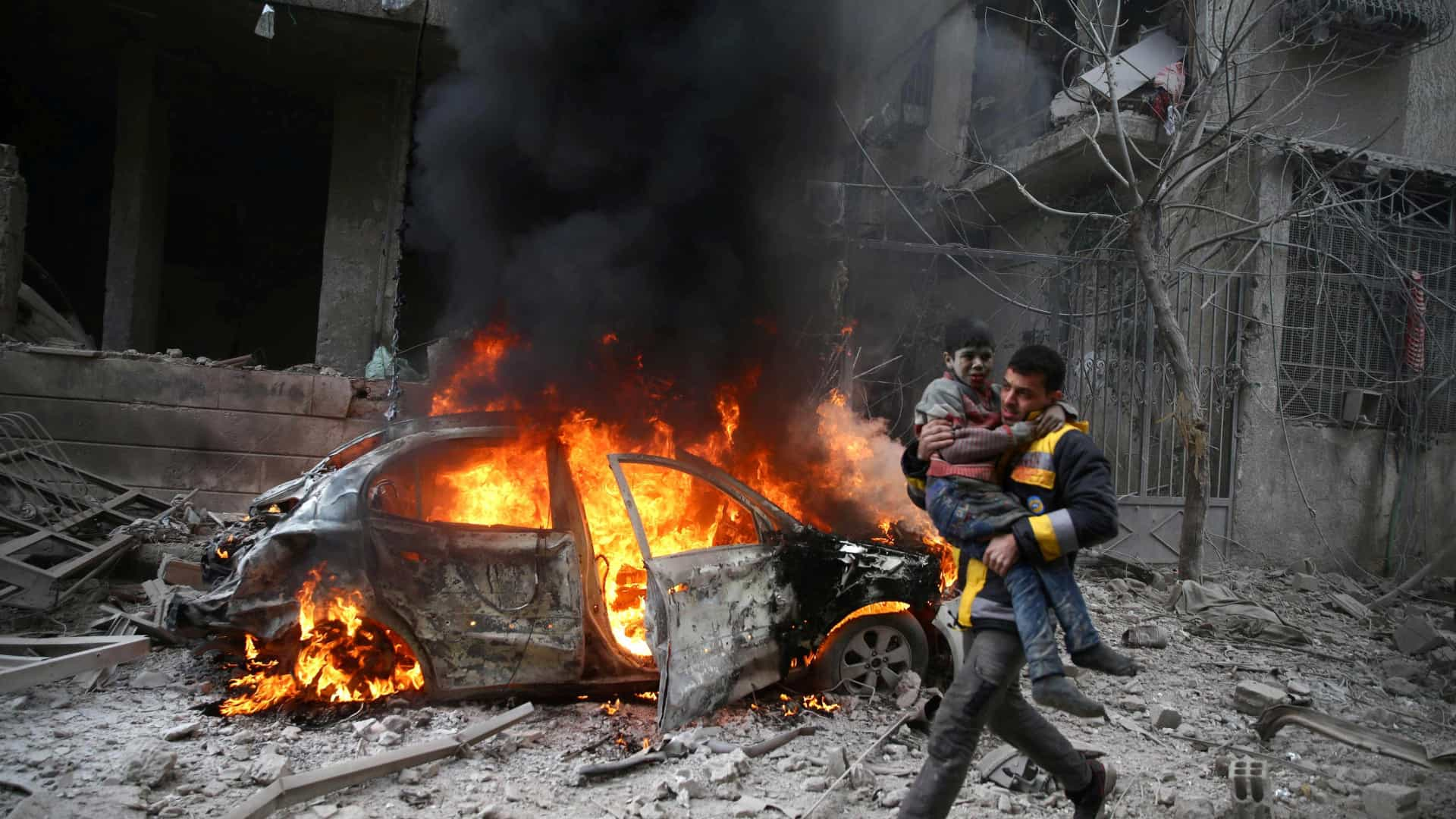 18 civis morrem em ataque da força aérea russa — Síria