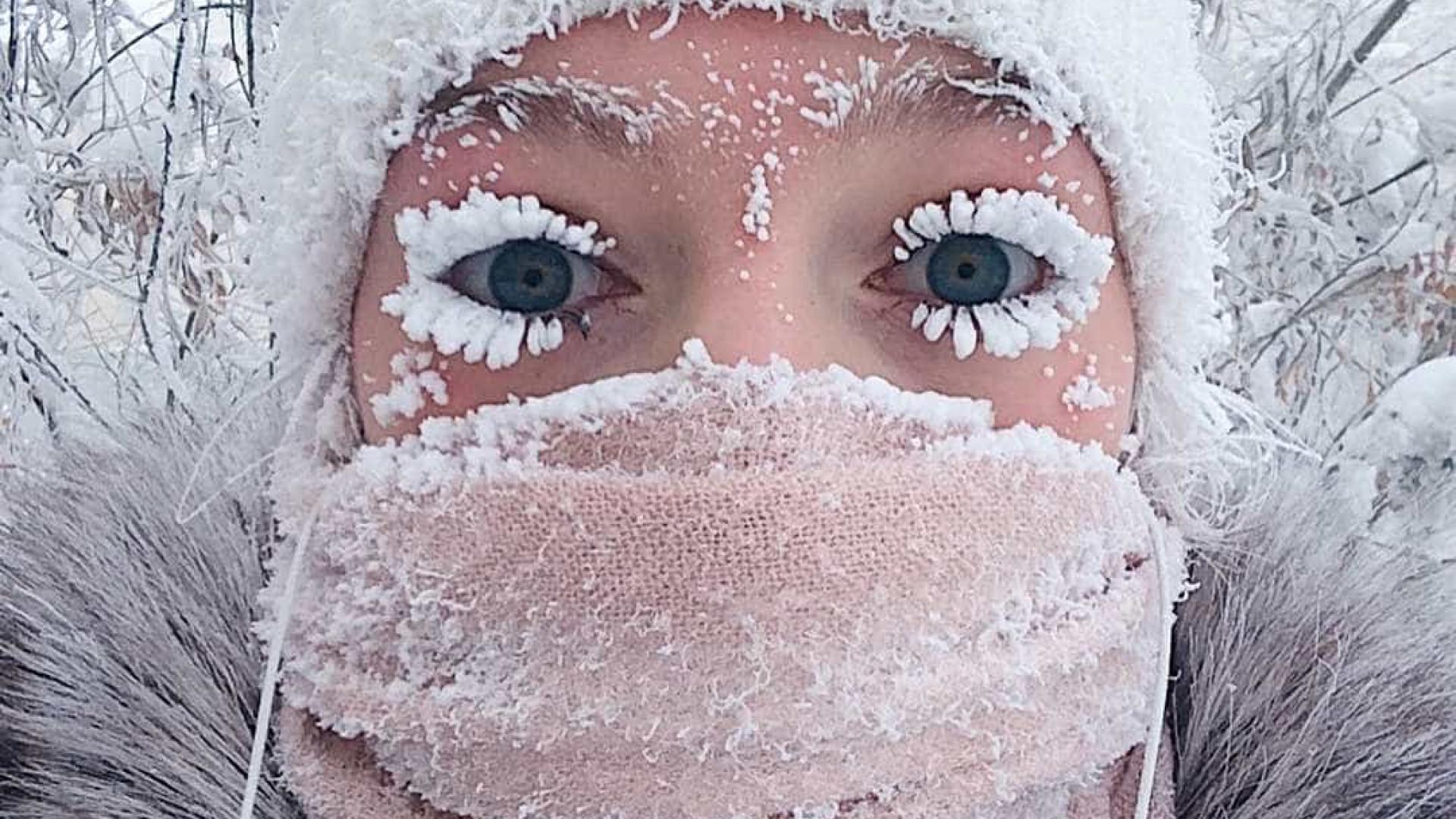 Frio de -62°C faz até termômetro parar em vila russa