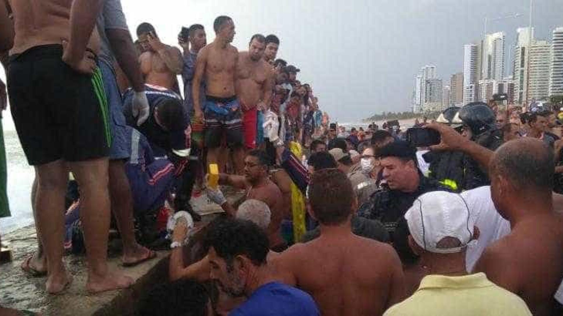 Imagens mostram pânico após queda de helicóptero da Globo no Recife