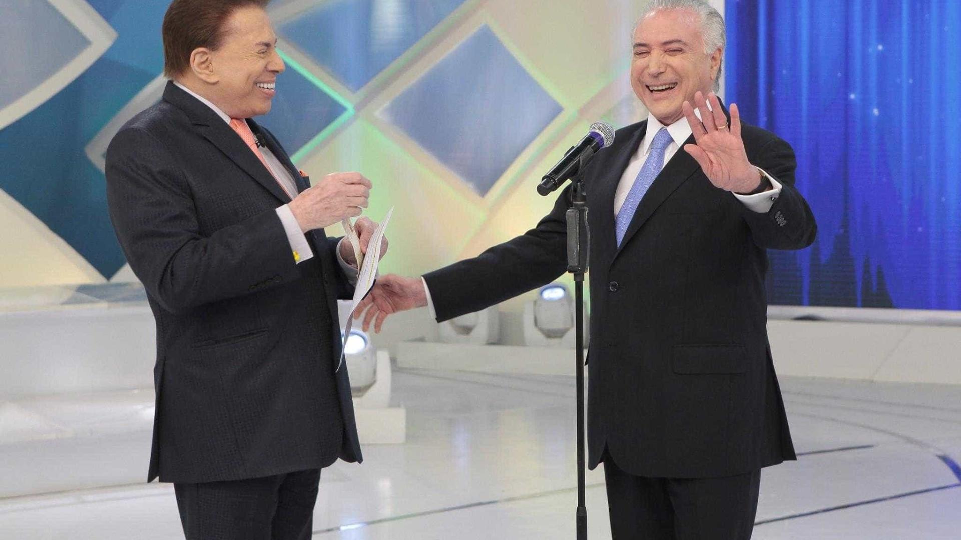 Silvio Santos é criticado por entrevistar Temer em seu programa