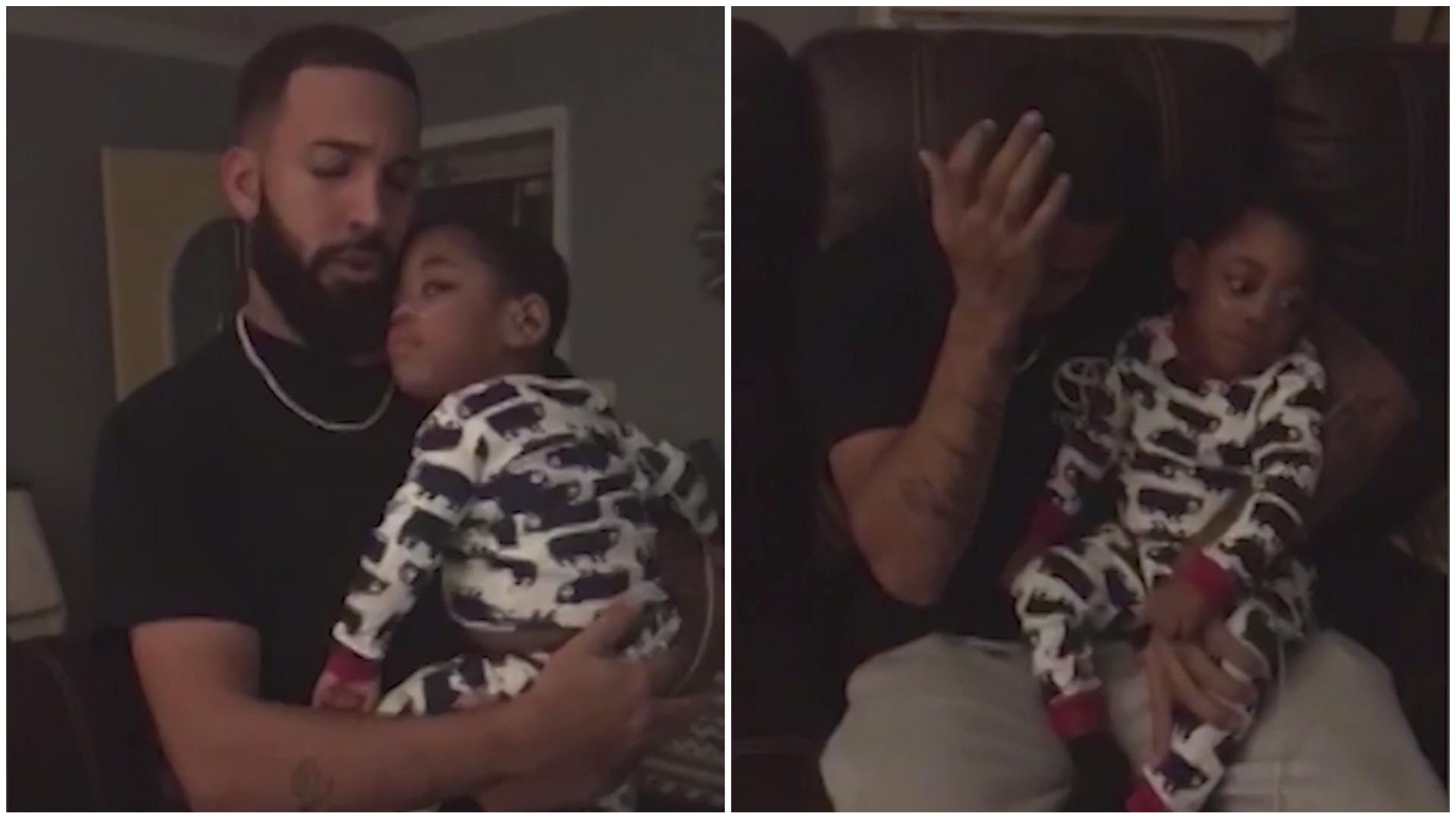 Pai se emociona ao cantar para filho com deficiência auditiva