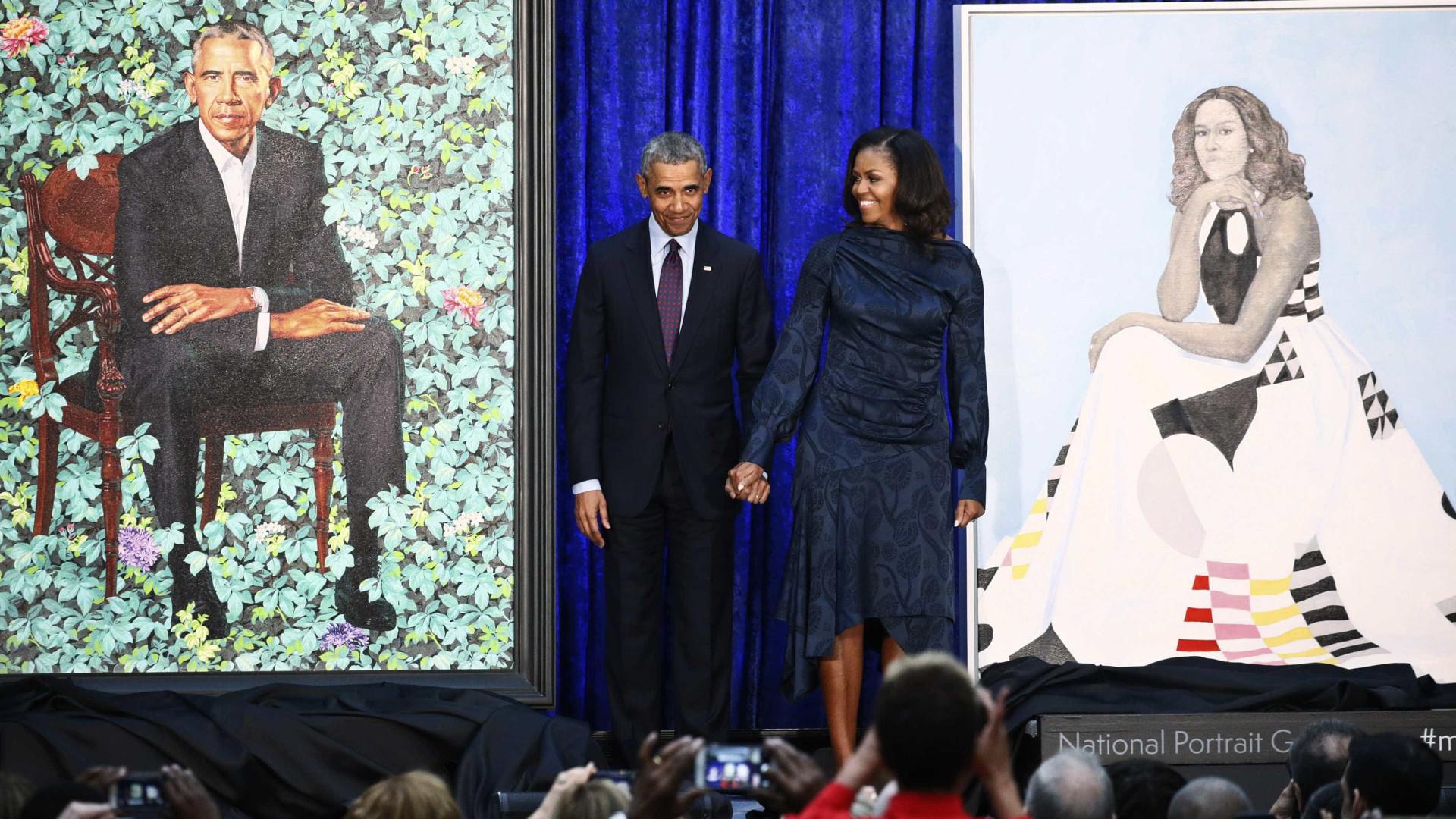 Retratos de Barack e Michelle Obama serão expostos em Washington