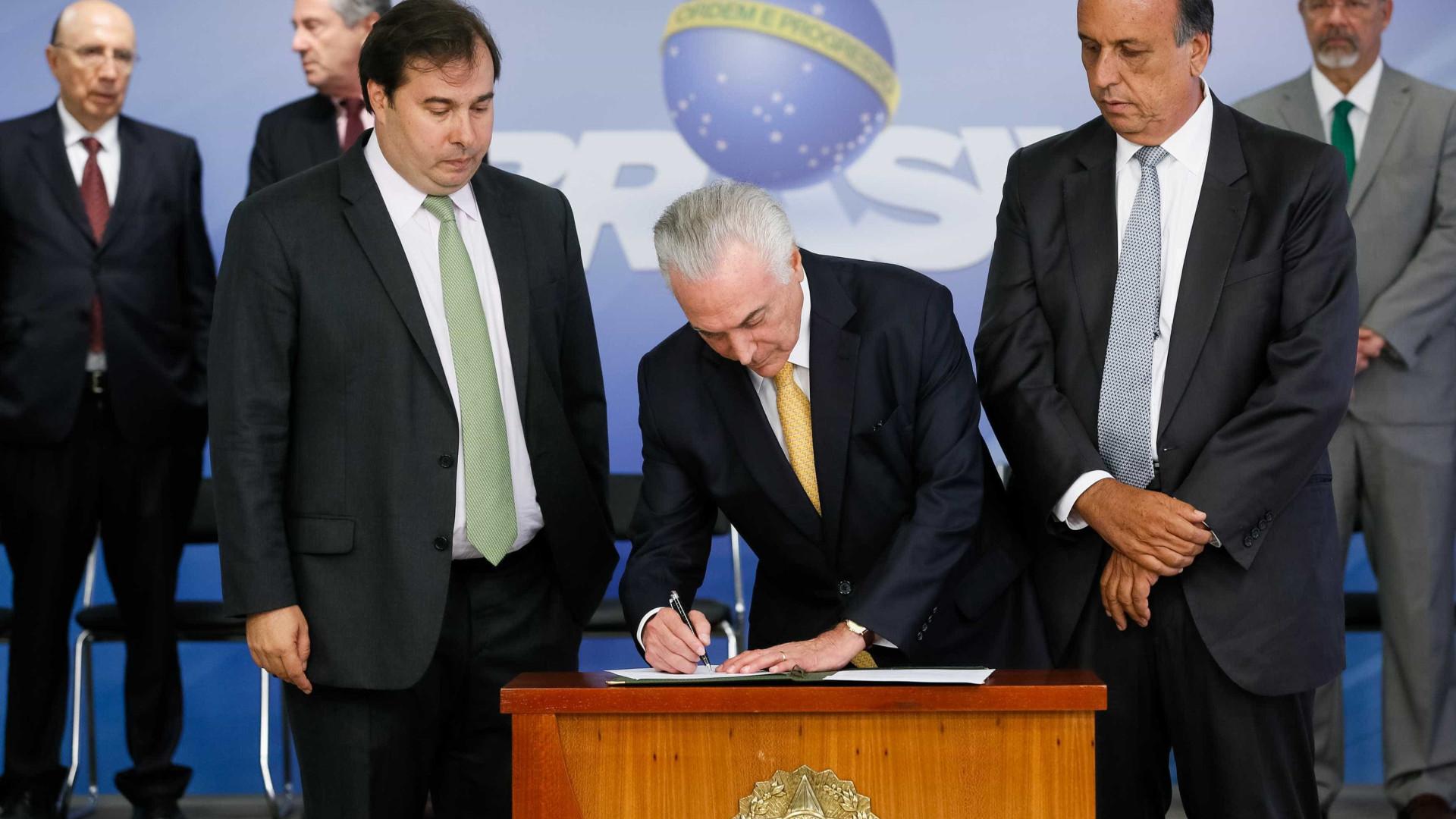 Câmara votará intervenção federal no Rio na segunda-feira
