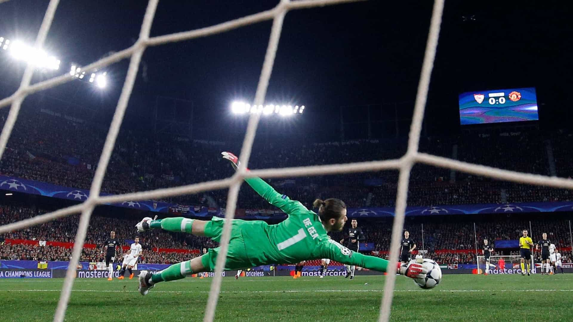 De Gea faz 'milagres' e evita derrota do Manchester United em Sevilla
