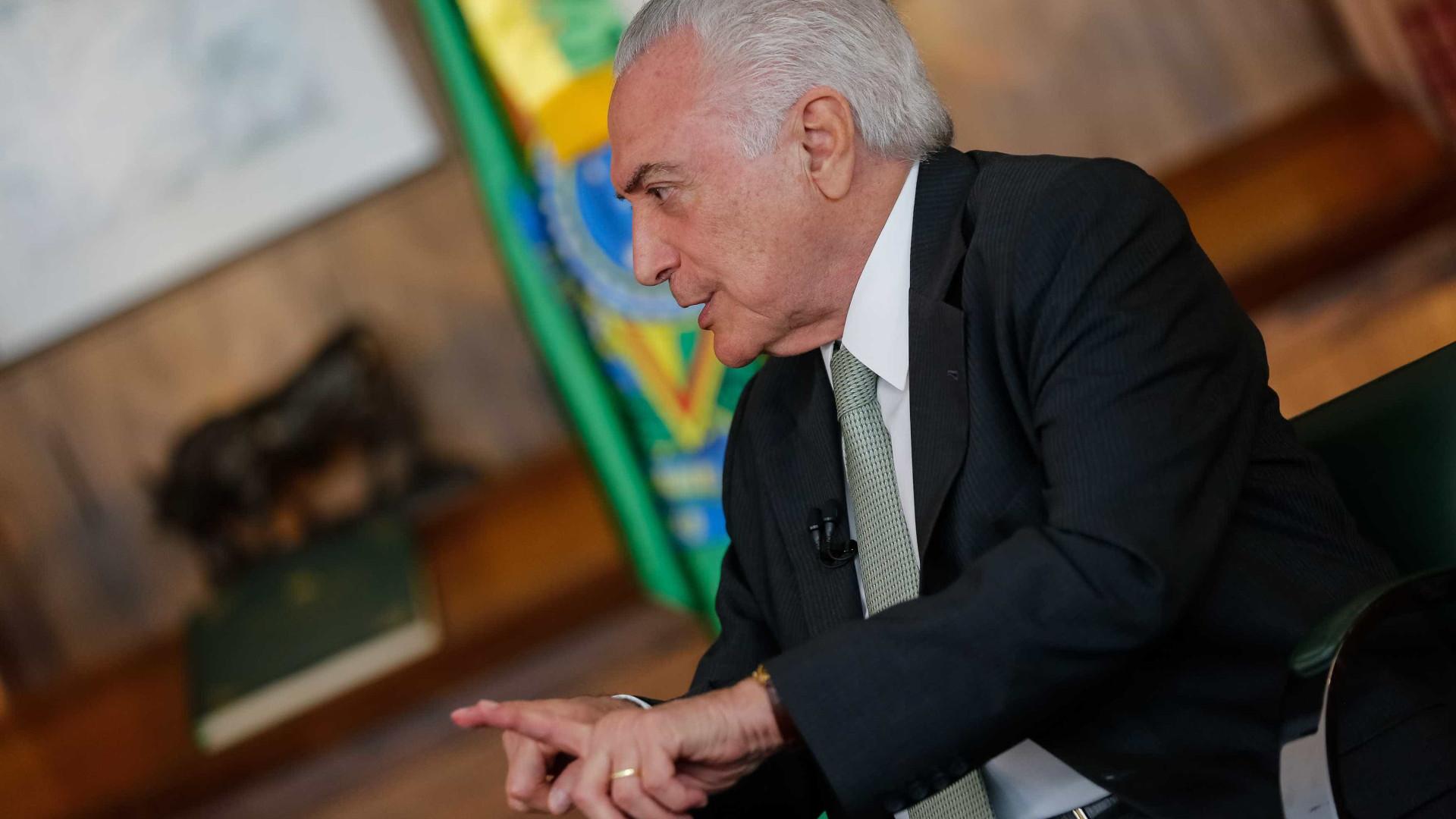 Lula reconheceu que fui vítima de uma tentativa de golpe, diz Temer