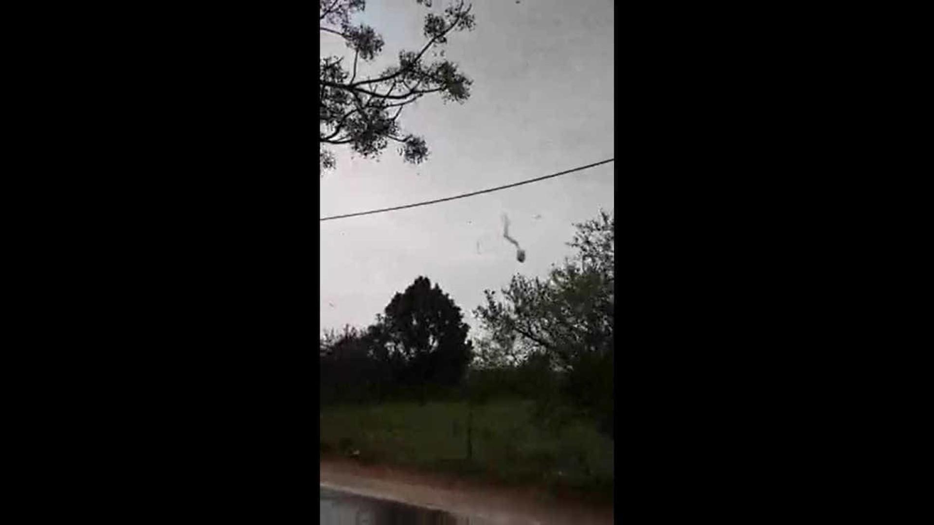 O rasto do tornado no Algarve