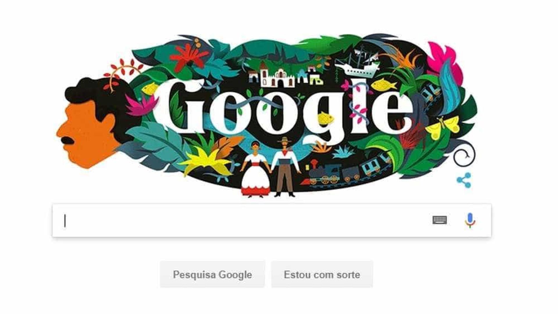 Gabriel García Márquez ganha homenagem de aniversário do Google