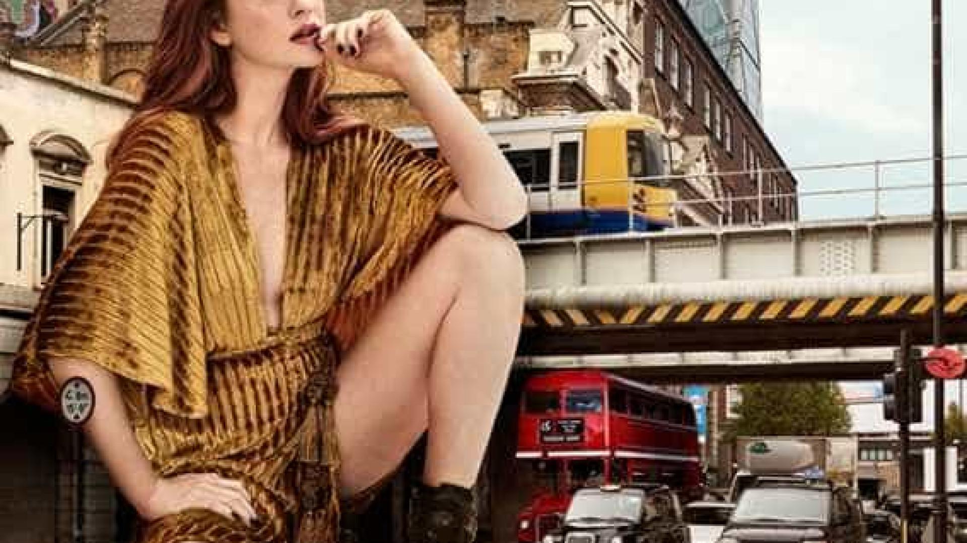 Marina Ruy Barbosa chama atenção em Londres em campanha de moda