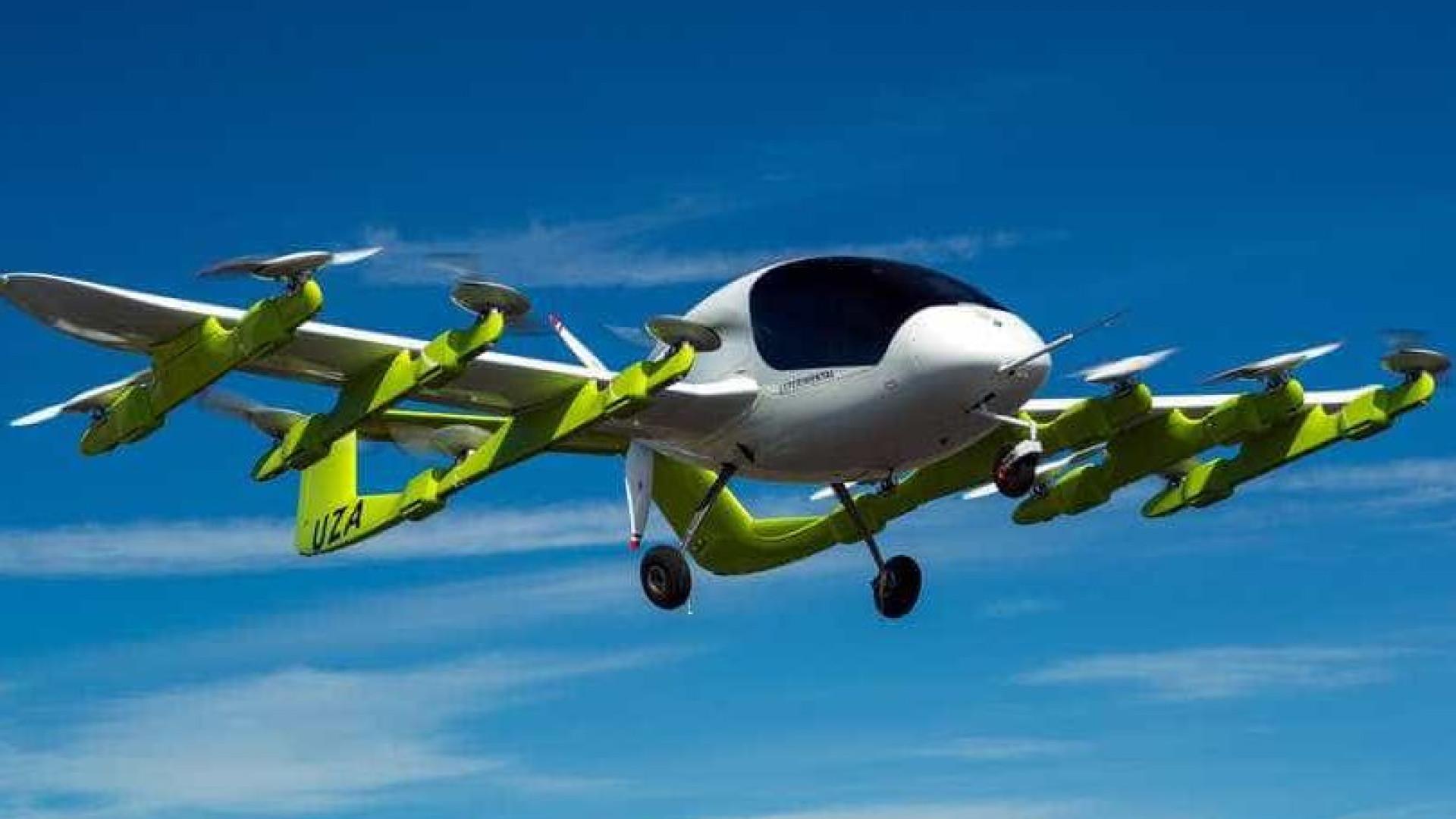 Fundador da Google já testa táxis voadores autônomos