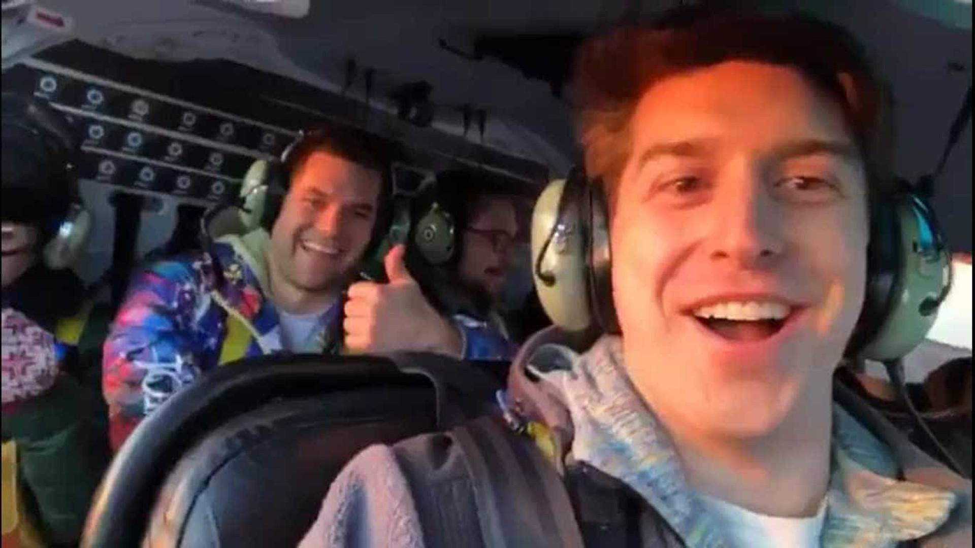 Jovem posta vídeo de decolagem antes de morrer em queda de helicóptero