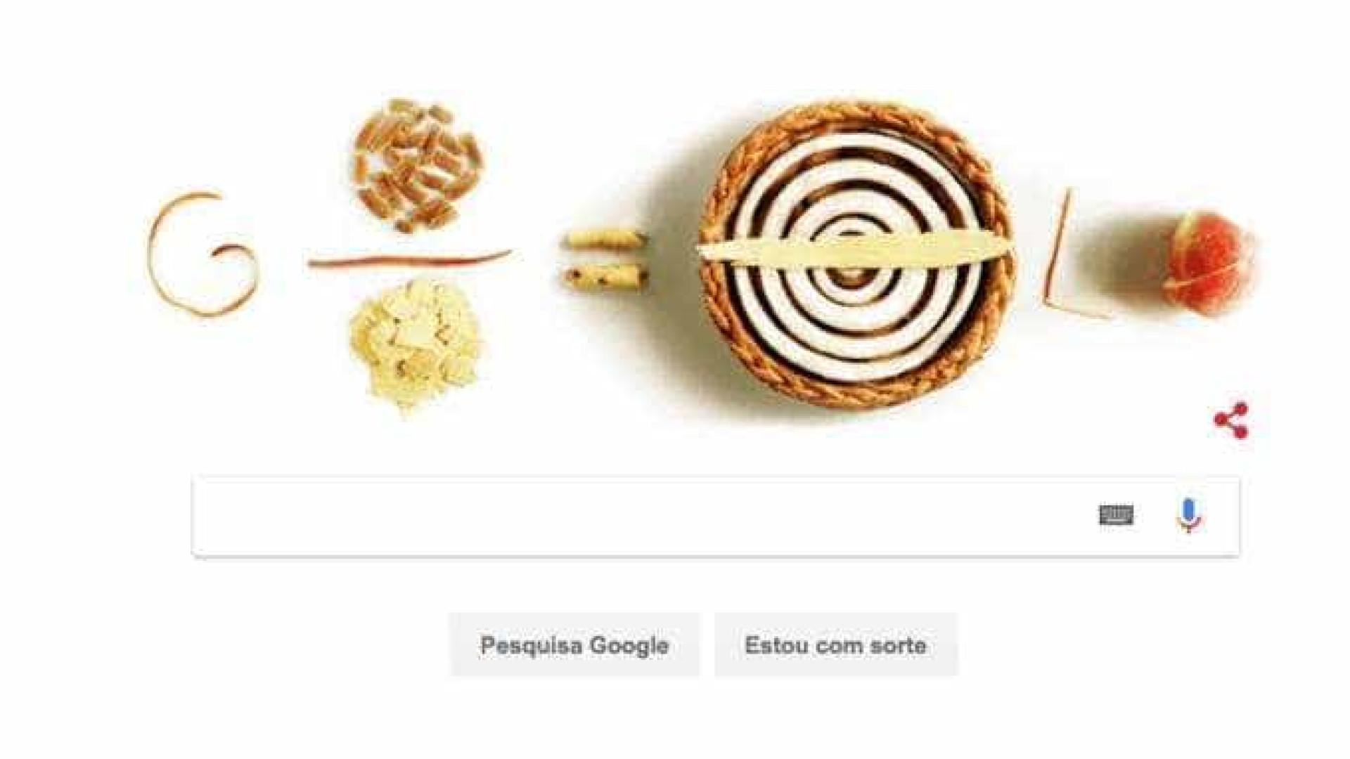 Google celebra 'Festa do Pi' com doodle de tortas