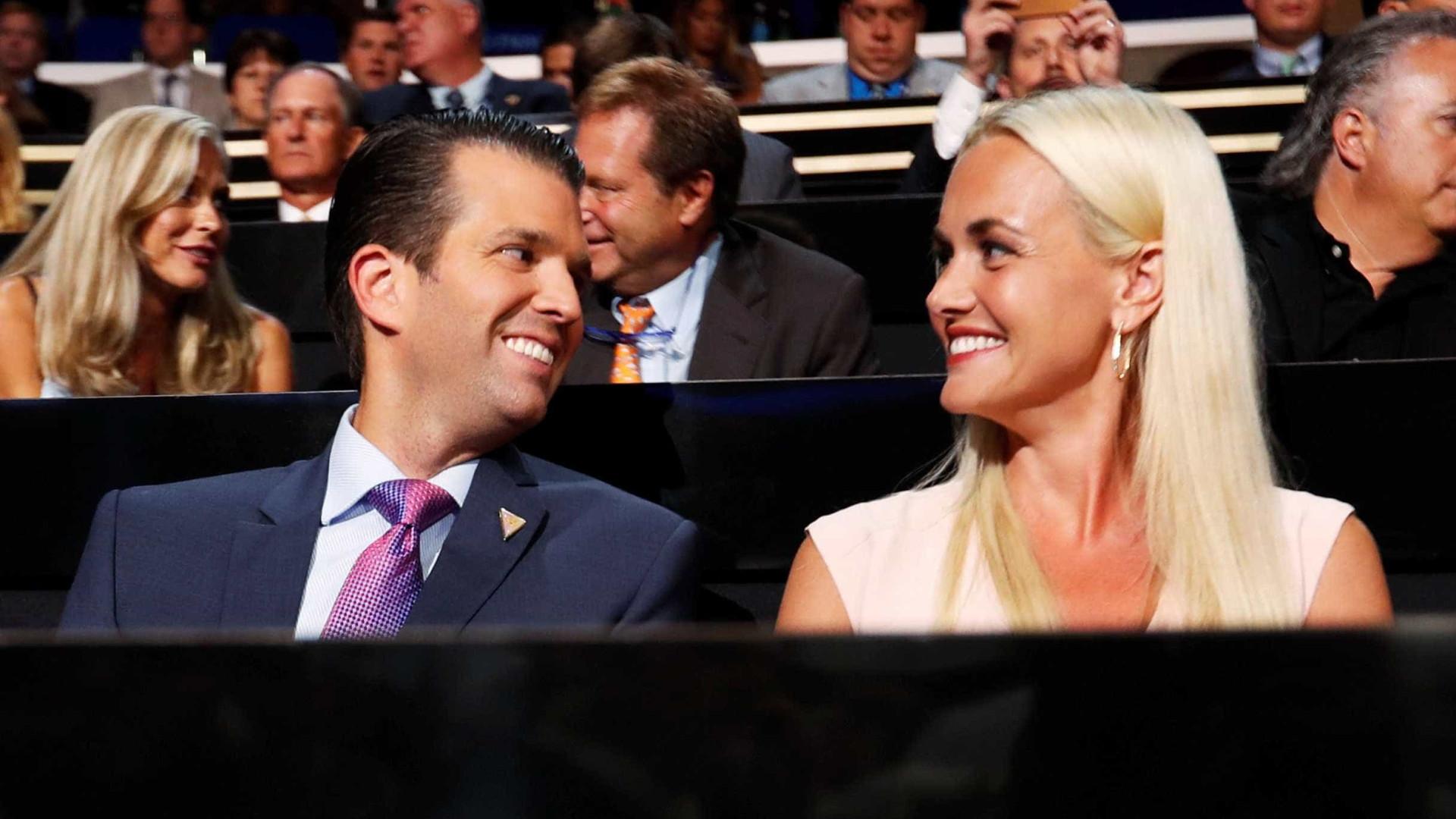 Mulher de Donald Trump Jr. pede divórcio em Nova York