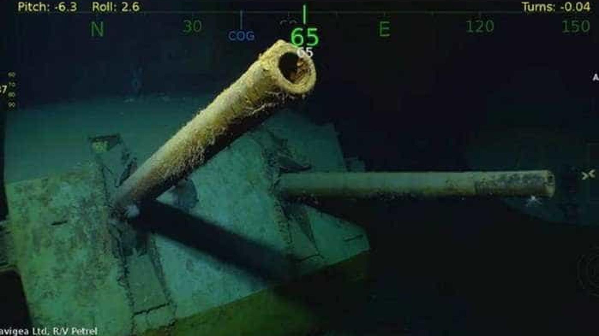 Navio norte-americado é encontrado no Pacífico 76 anos após naufrágio