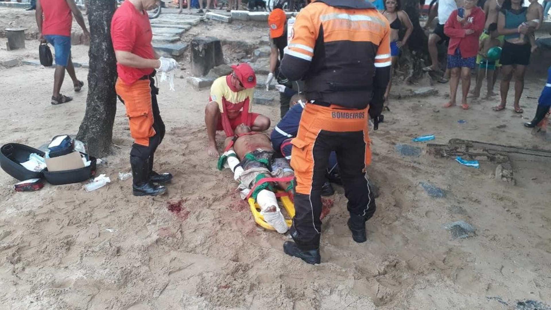 Homem atacado por tubarão no Grande Recife tem perna direita amputada
