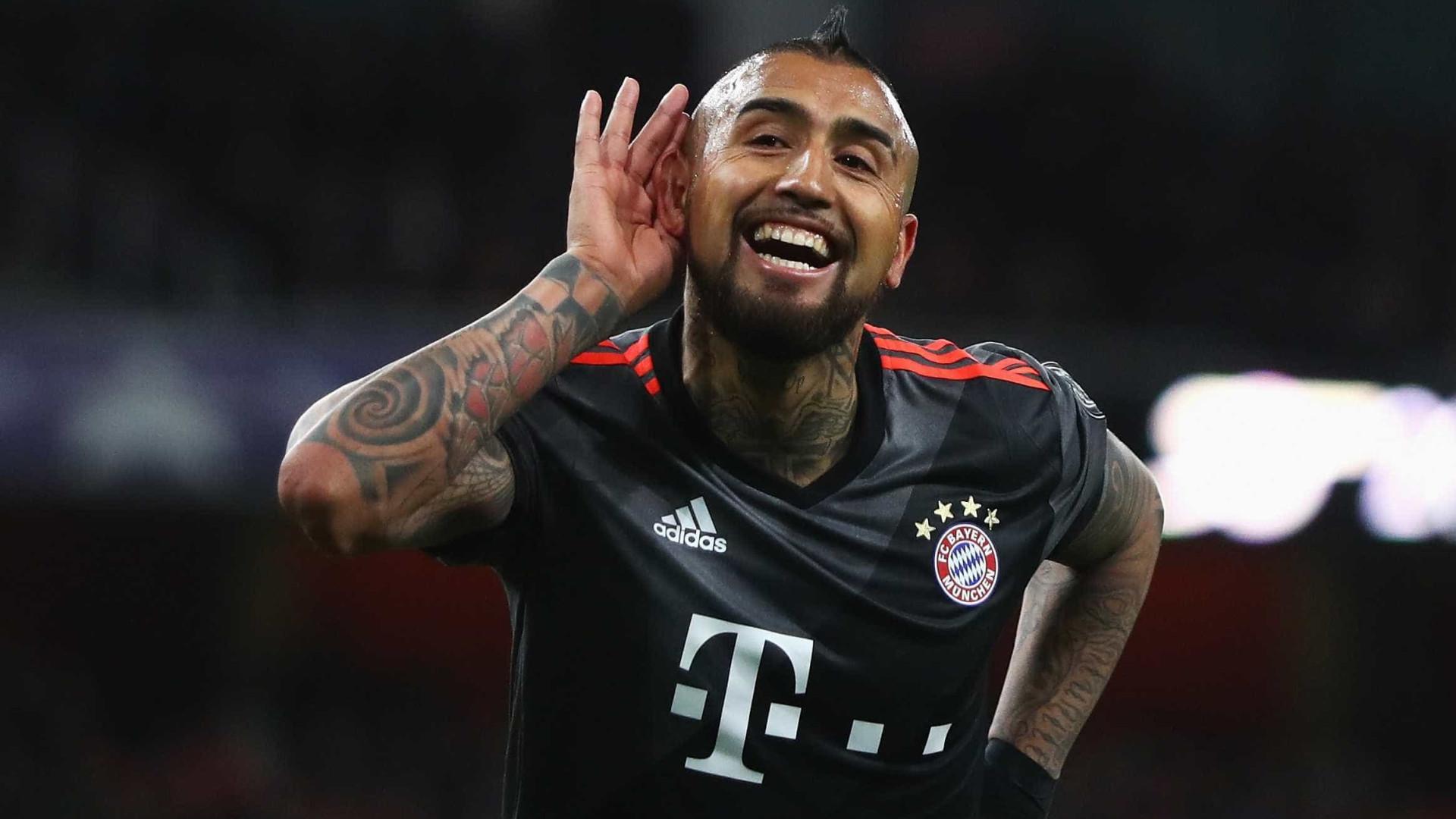 Lesionado, Vidal desfalcará o Bayern nas semis da Champions