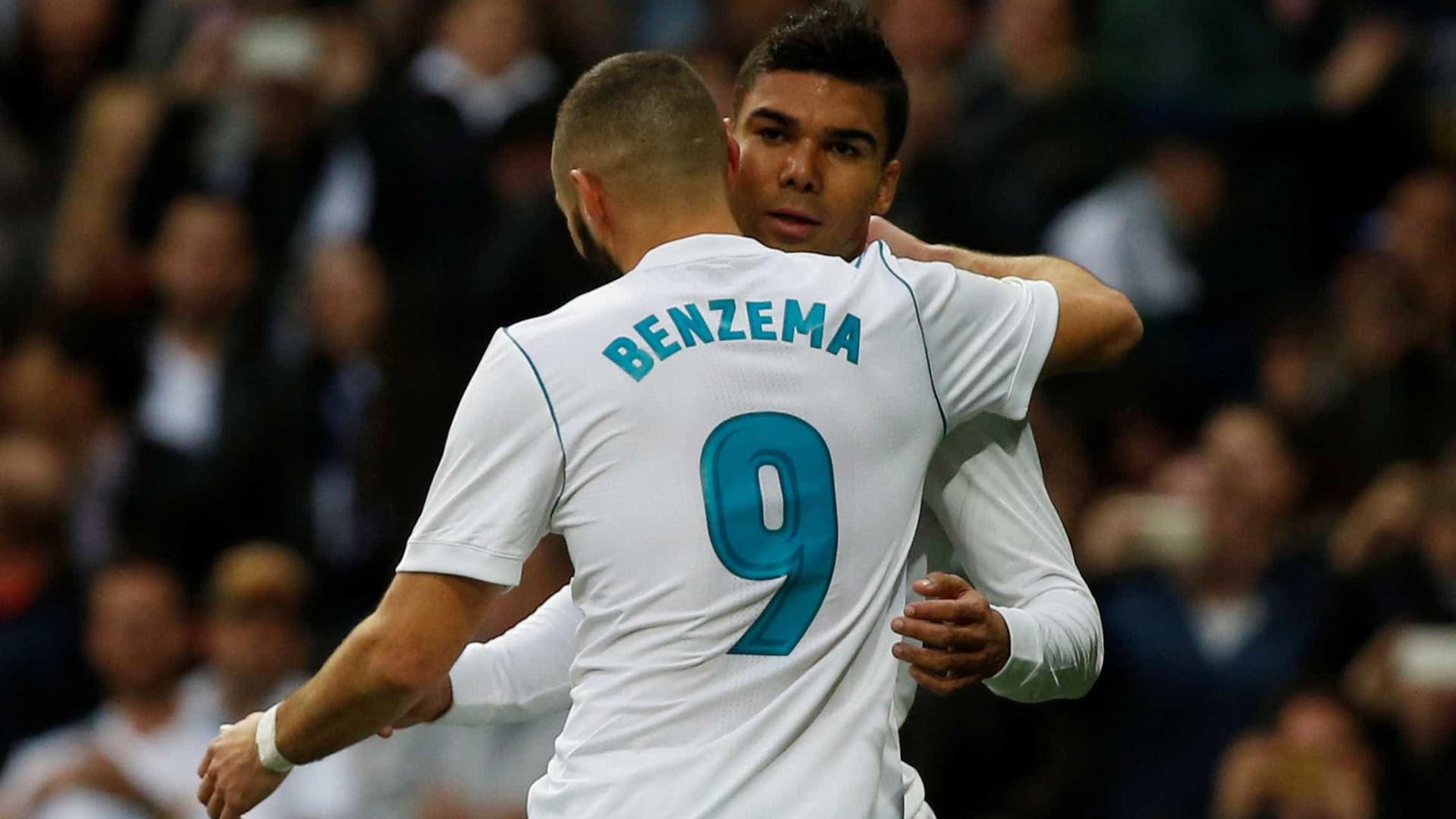Volante, Casemiro tem mesmo número de gols do atacante Benzema
