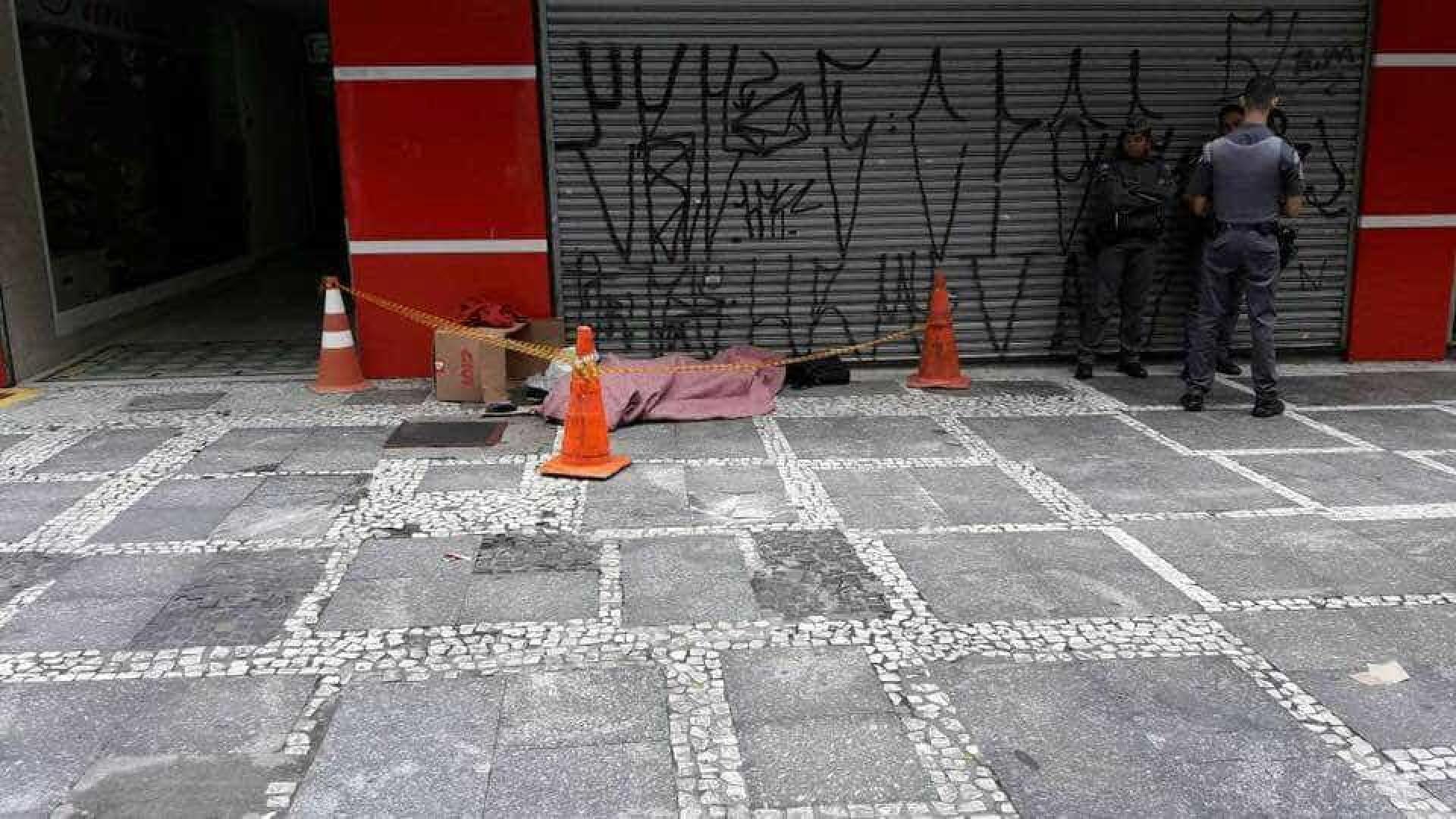 Morador de rua é encontrado morto no Centro de São Paulo
